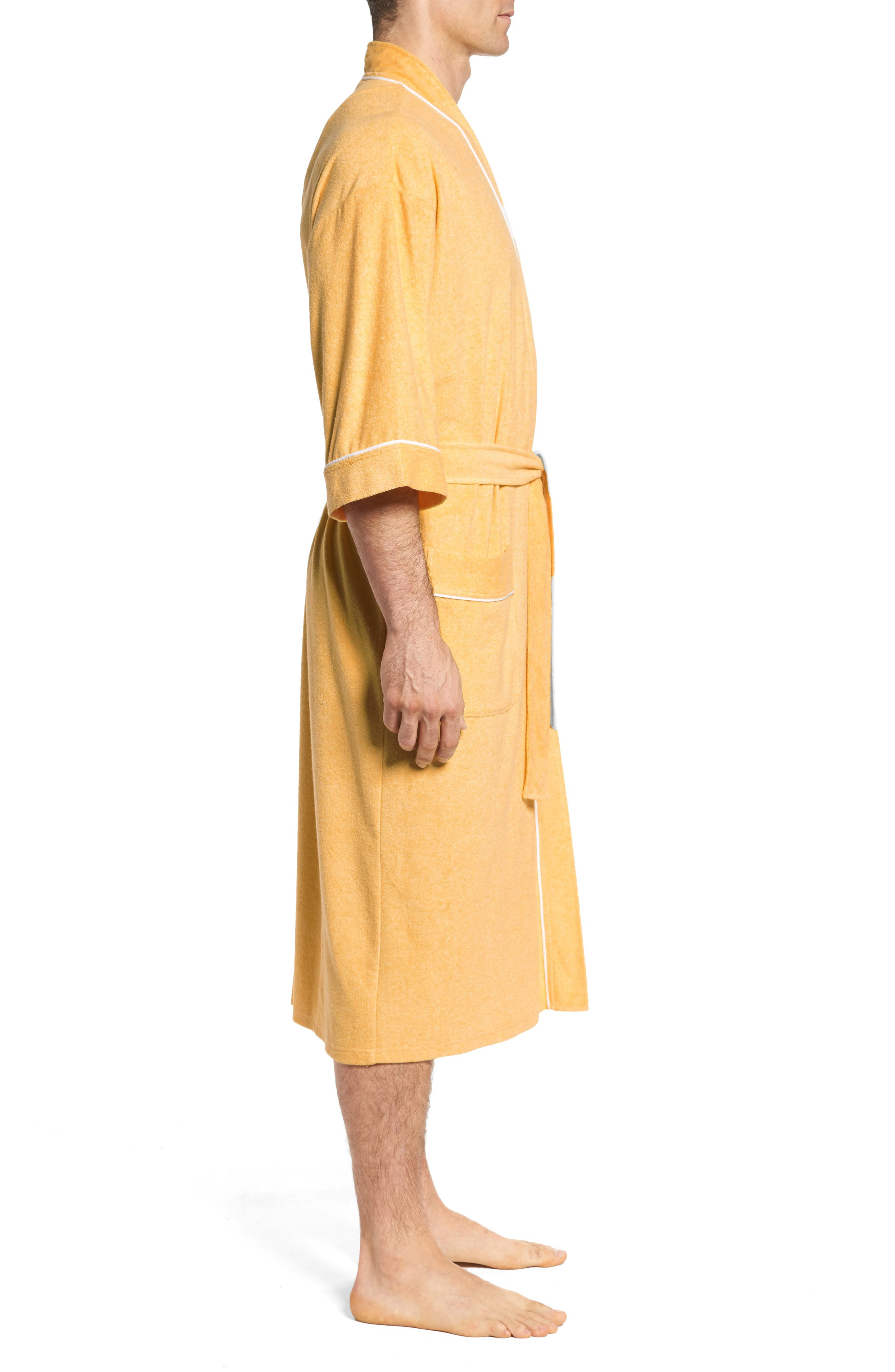 Kimono Cotton Blend Robe,                             Alternate thumbnail 3, color,                             700
