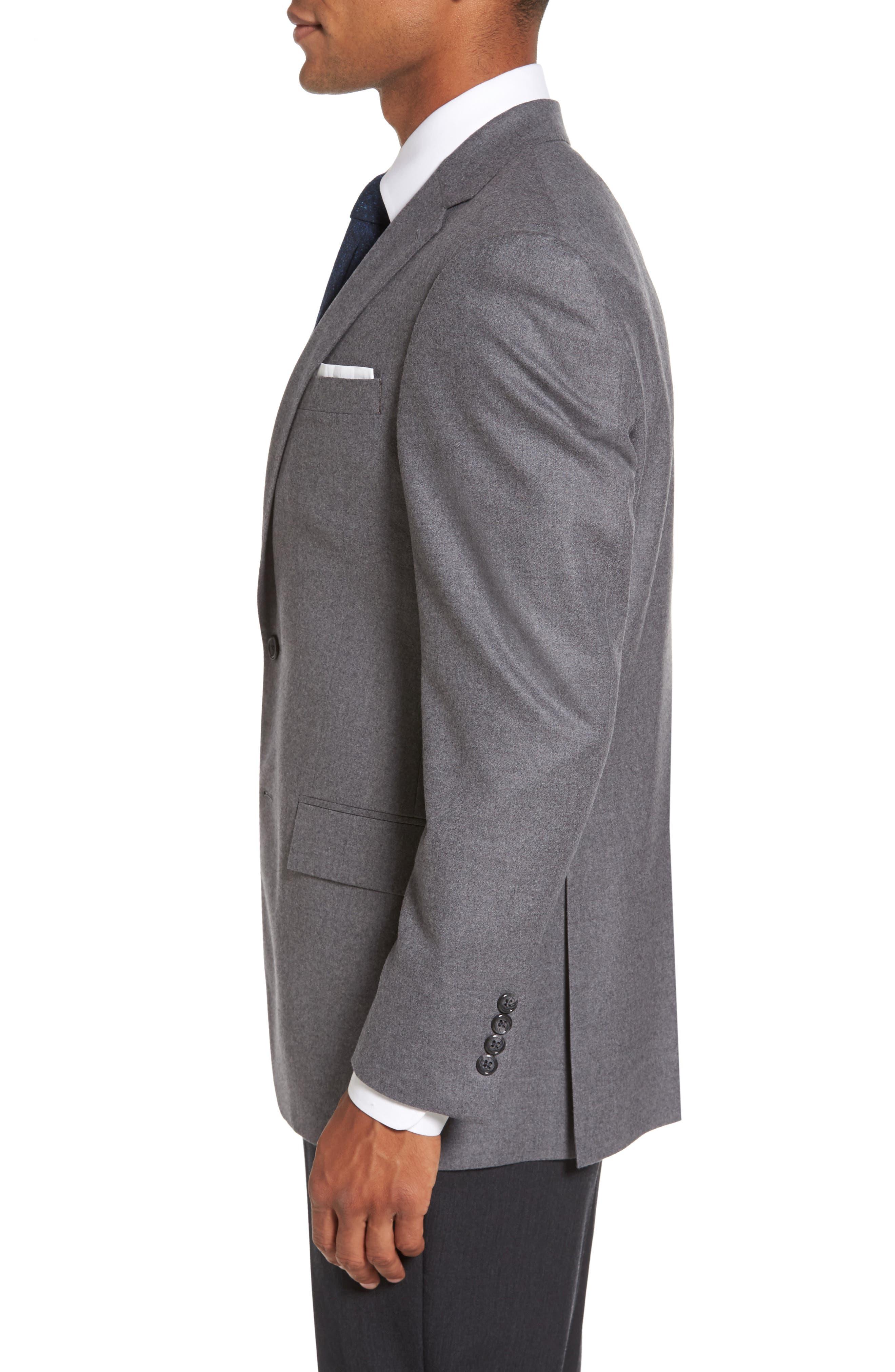Sutton Trim Fit Stretch Wool Blazer,                             Alternate thumbnail 3, color,                             050