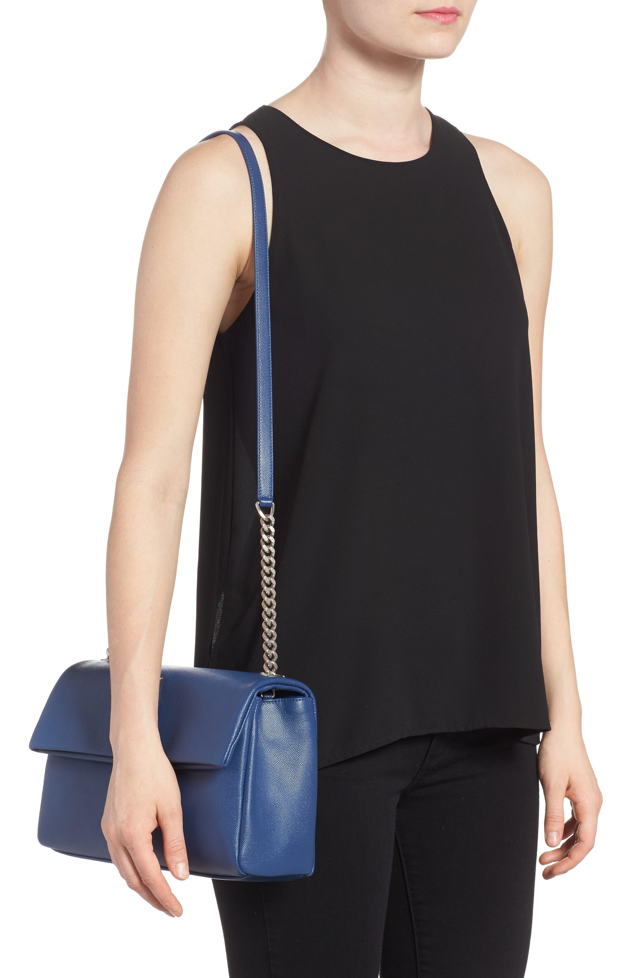 Medium West Hollywood Leather Shoulder Bag,                             Alternate thumbnail 5, color,