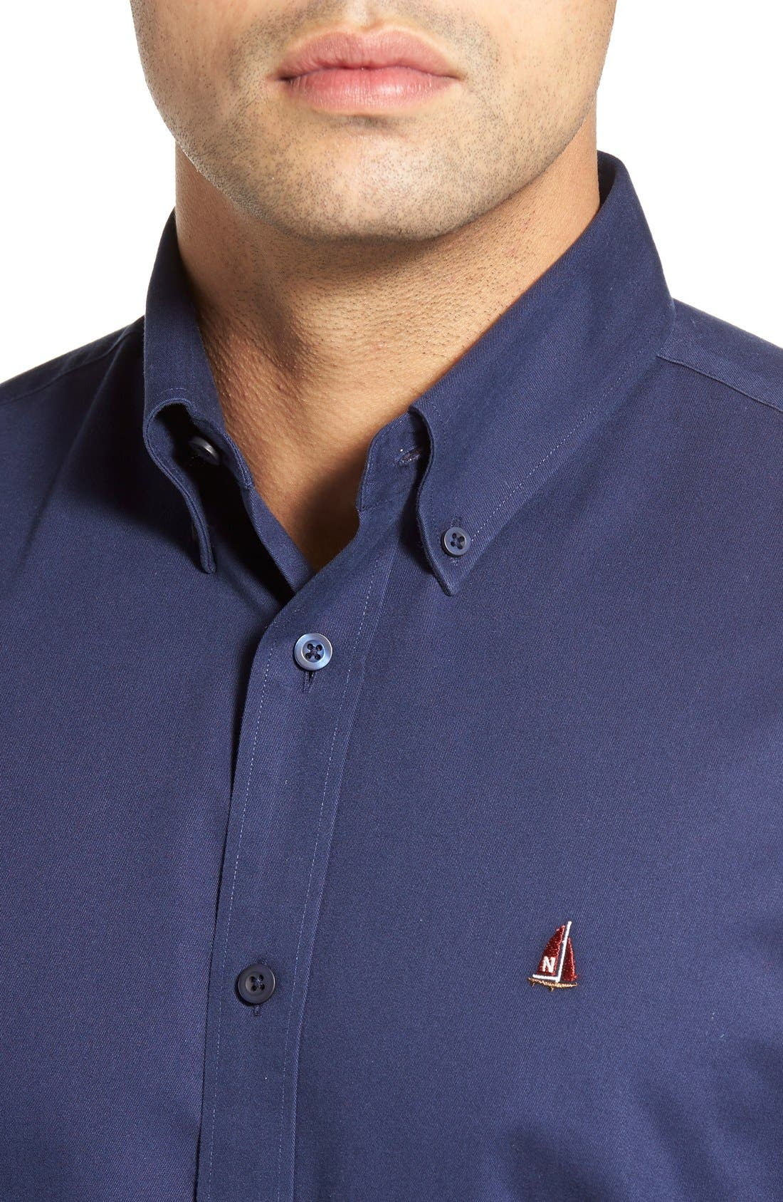 Smartcare<sup>™</sup> Traditional Fit Twill Boat Shirt,                             Alternate thumbnail 122, color,