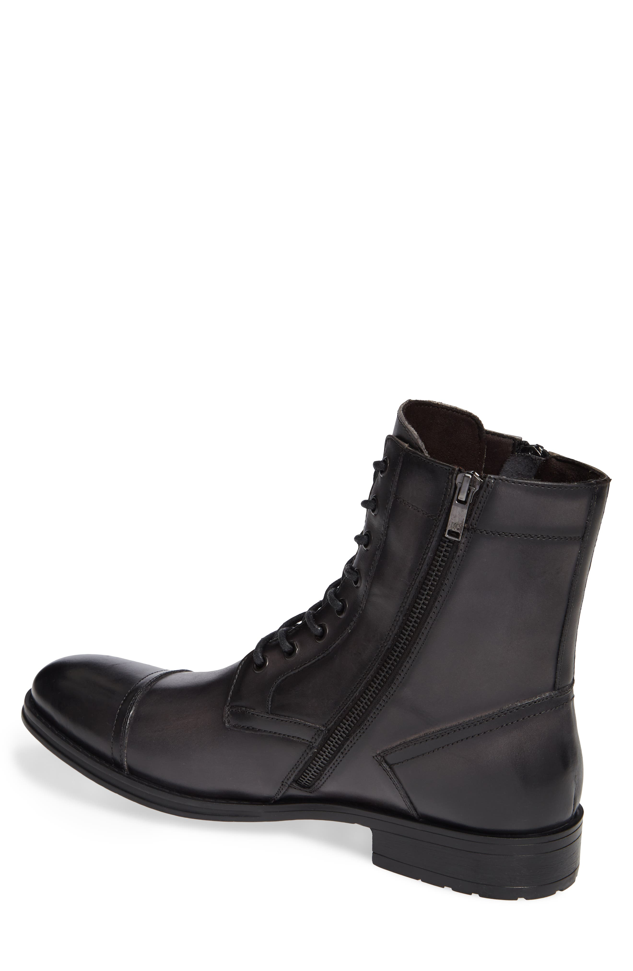 Hugh Cap Toe Boot,                             Alternate thumbnail 2, color,                             GREY LEATHER