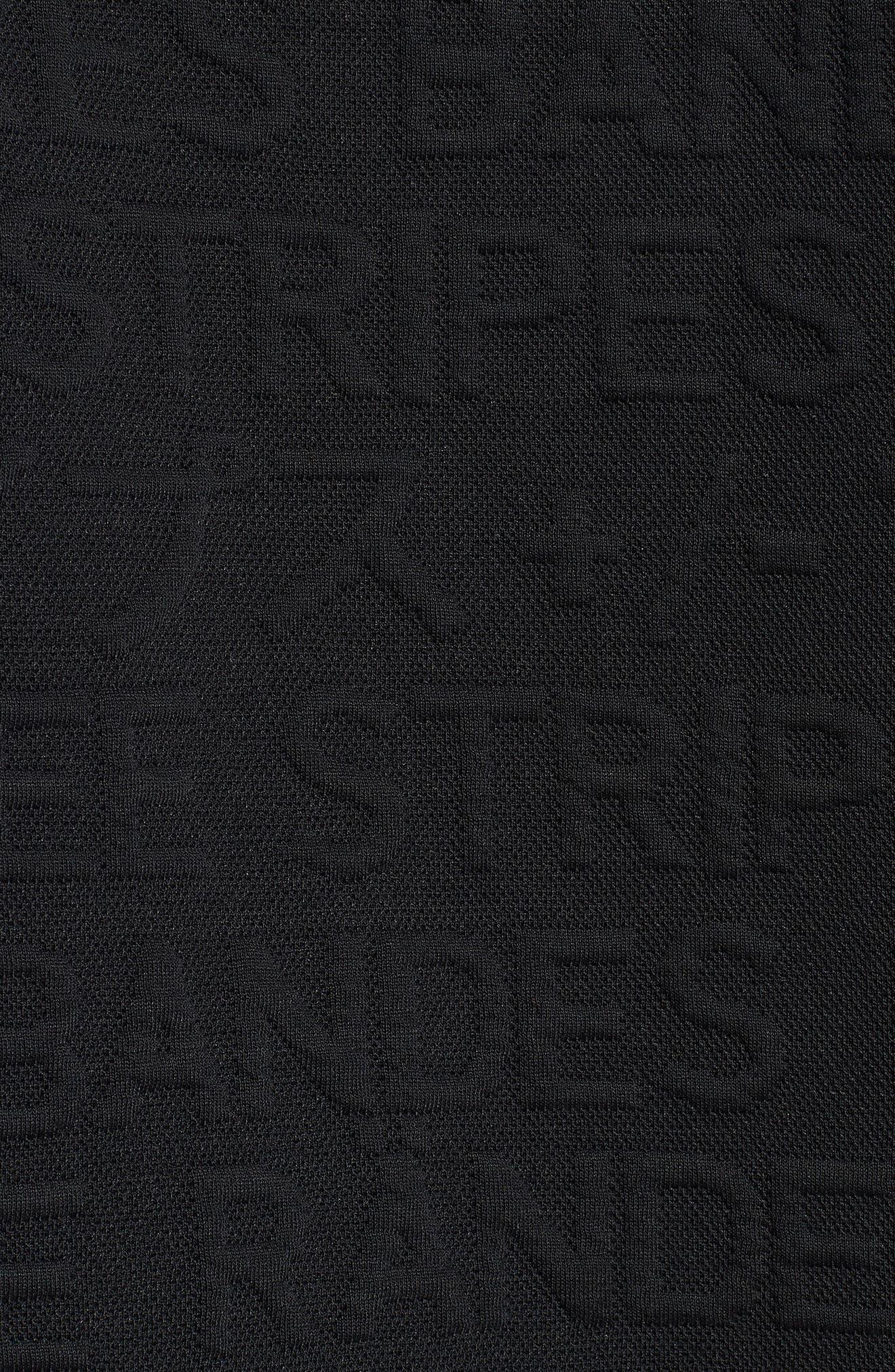 ADIDAS,                             3-Stripes Hoodie Sweatshirt,                             Alternate thumbnail 5, color,                             BLACK