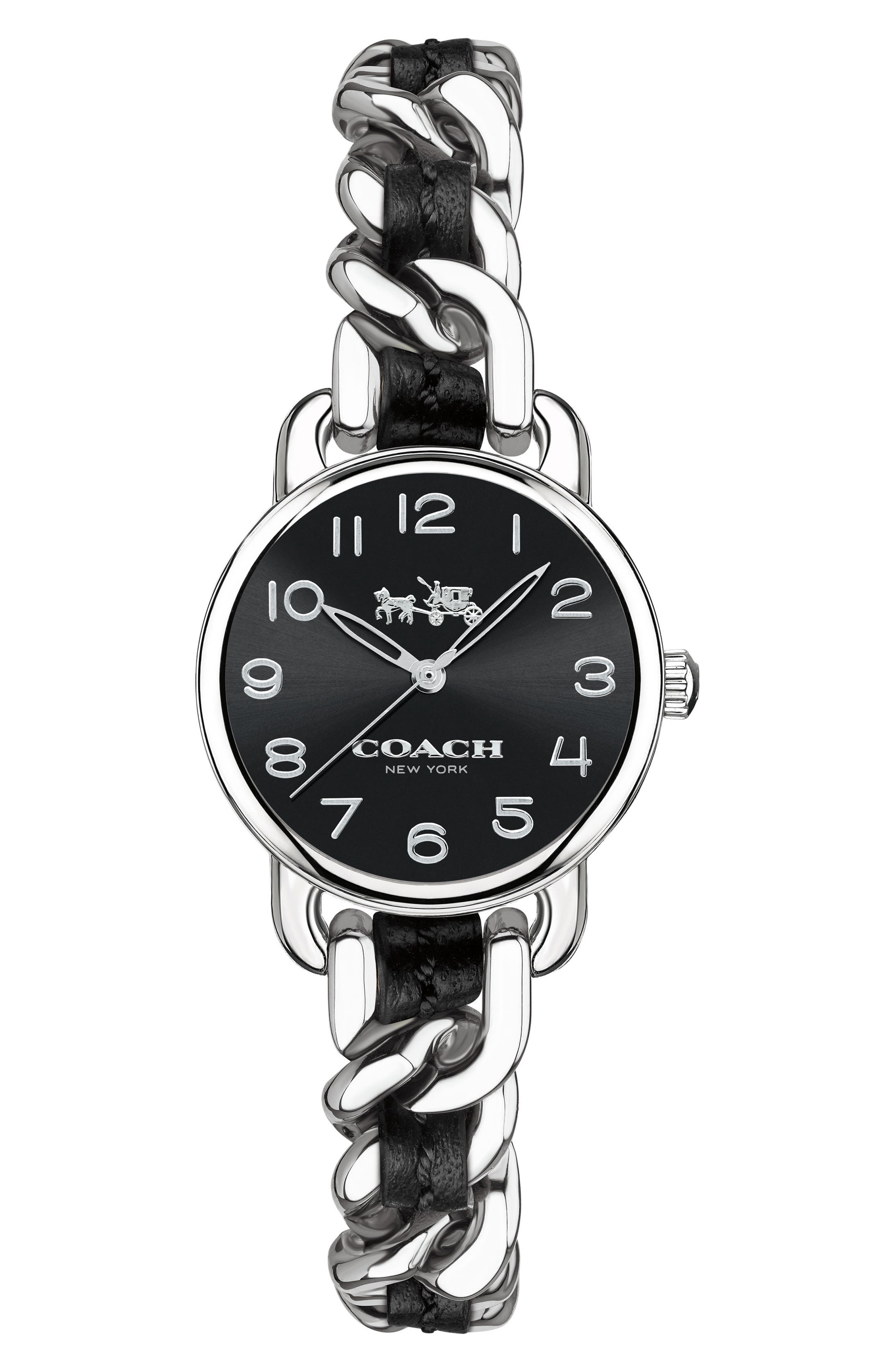 Delancey Leather Chain Watch, 23mm,                             Main thumbnail 2, color,