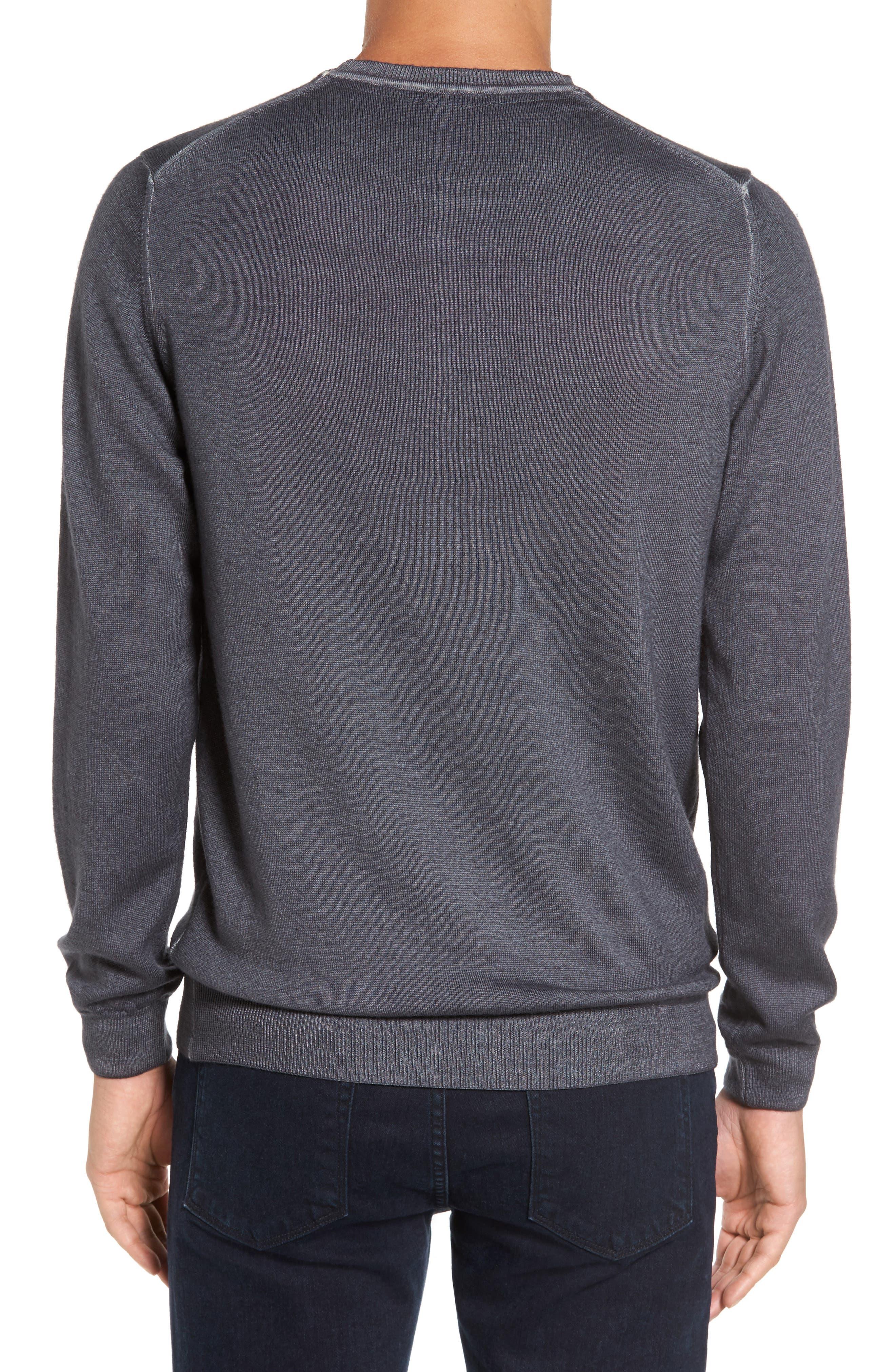 V-Neck Merino Wool Sweater,                             Alternate thumbnail 4, color,