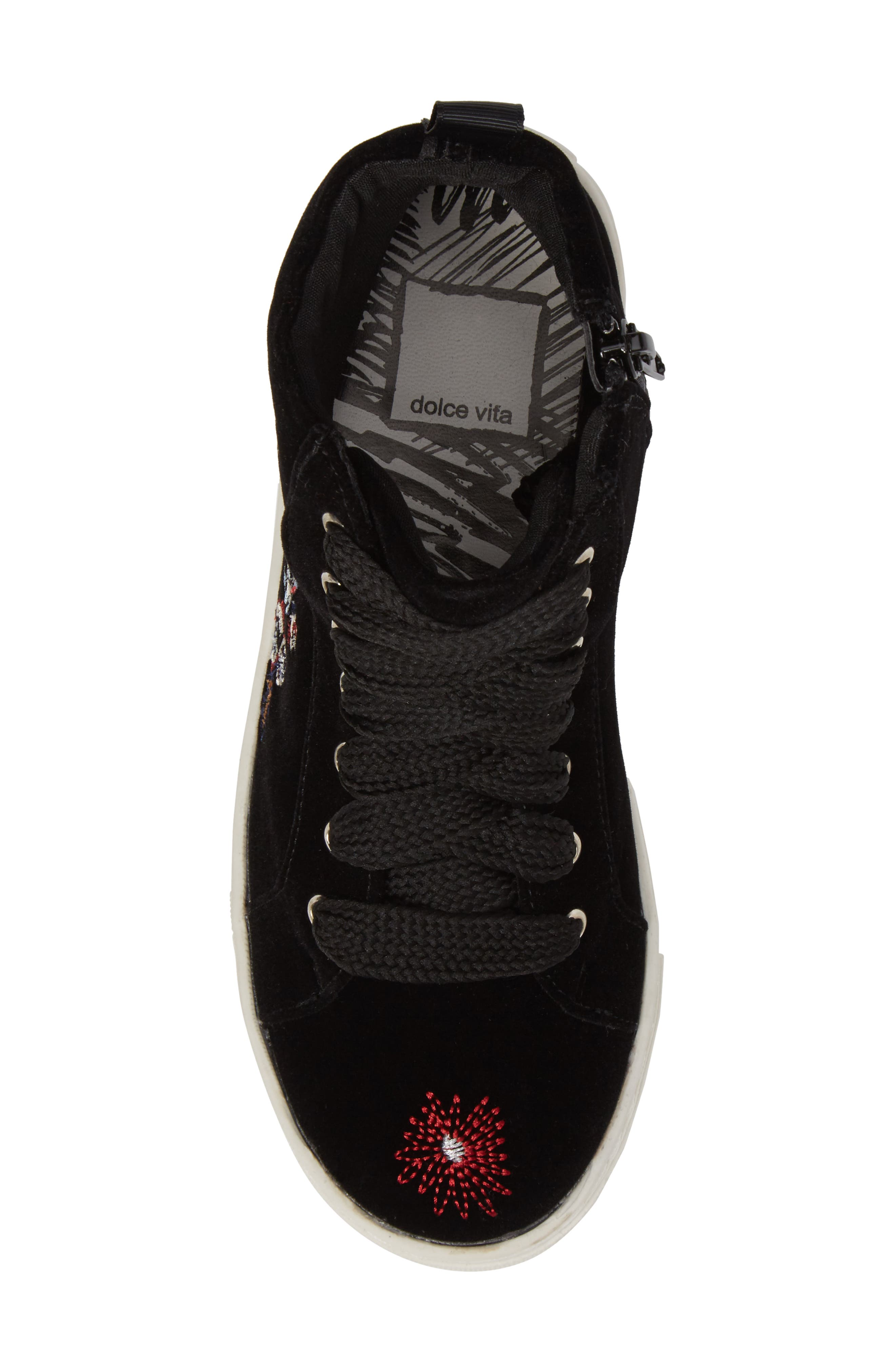 Zowen Embroidered High Top Sneaker,                             Alternate thumbnail 5, color,                             003