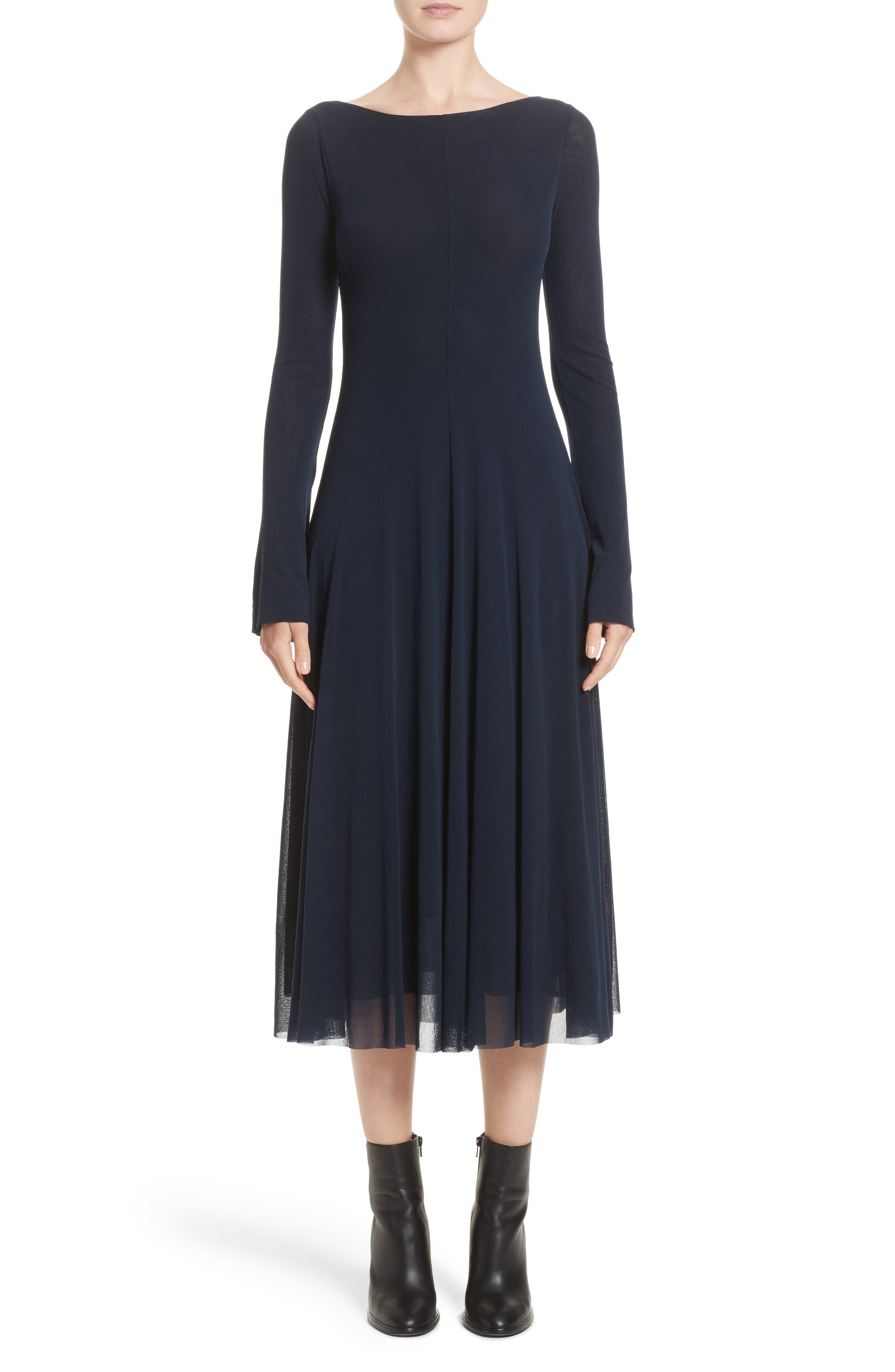 Reversible Tulle Dress,                             Main thumbnail 1, color,                             001