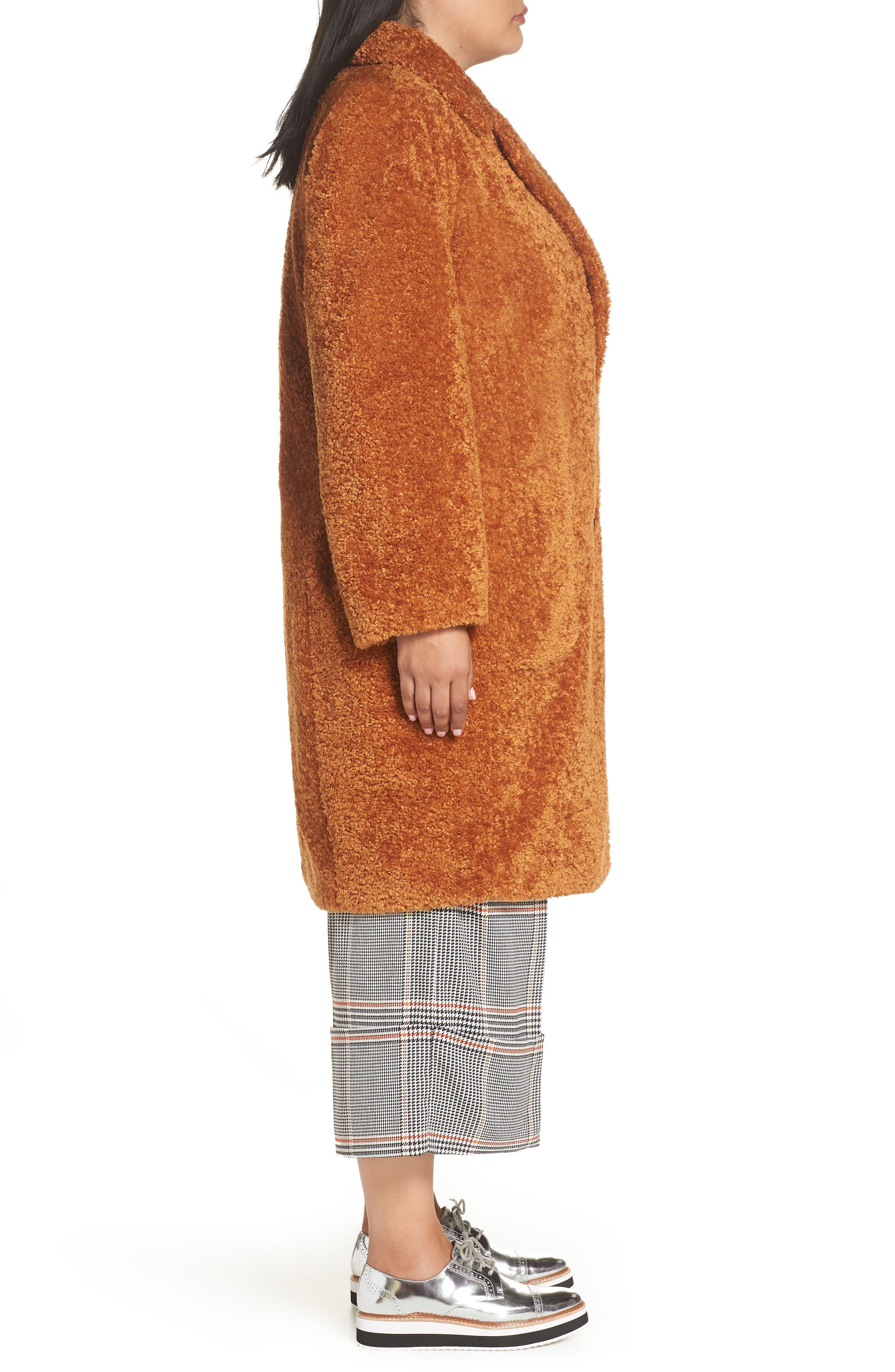 x Atlantic-Pacific Faux Fur Coat,                             Alternate thumbnail 3, color,                             219