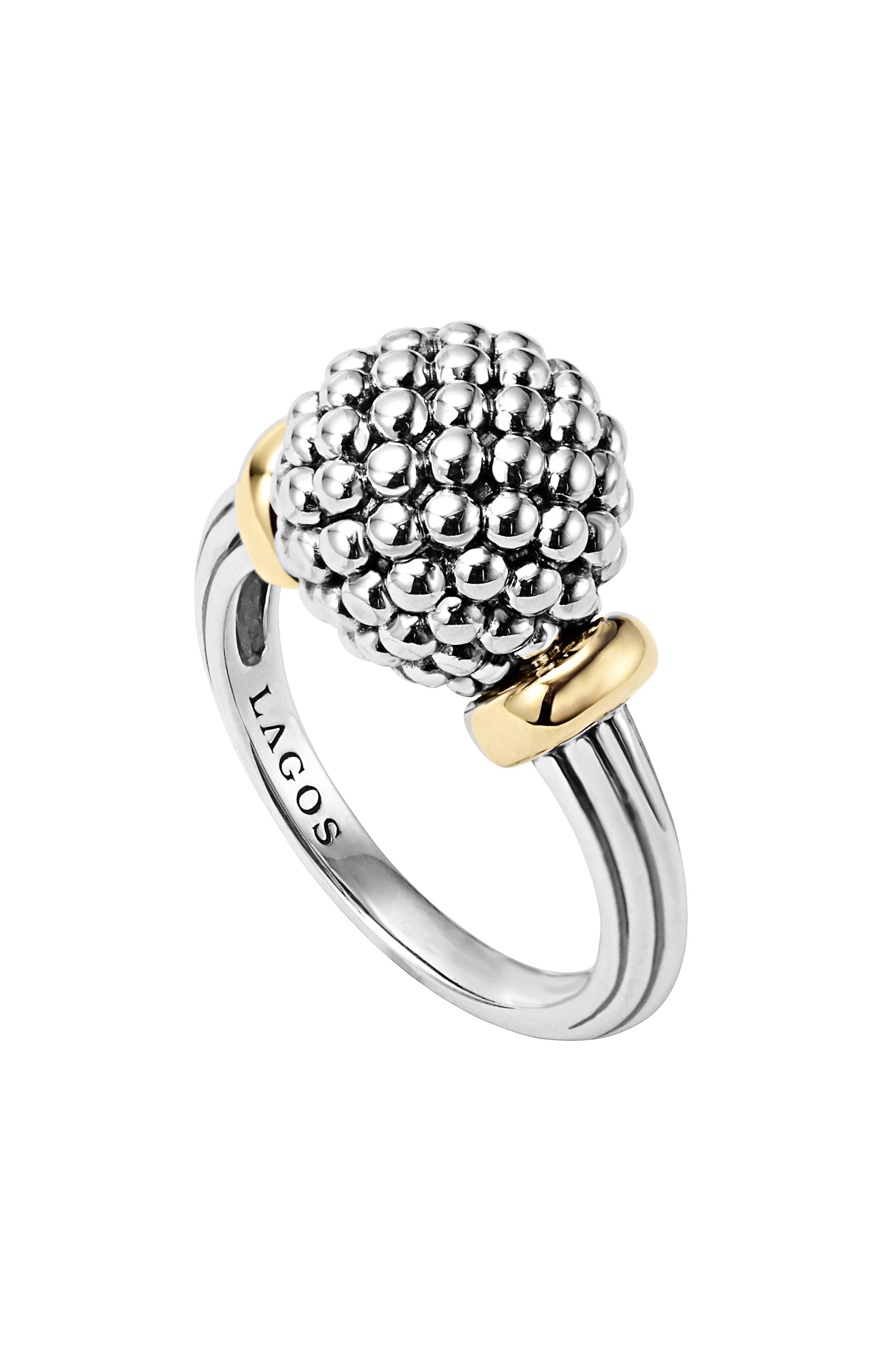 Caviar Forever Medium Dome Ring,                             Alternate thumbnail 2, color,