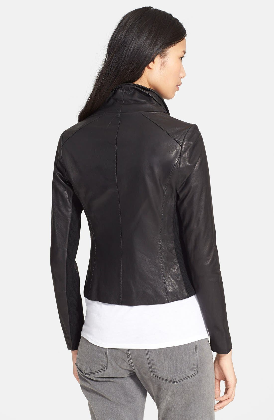 Leather Scuba Jacket,                             Alternate thumbnail 2, color,                             001