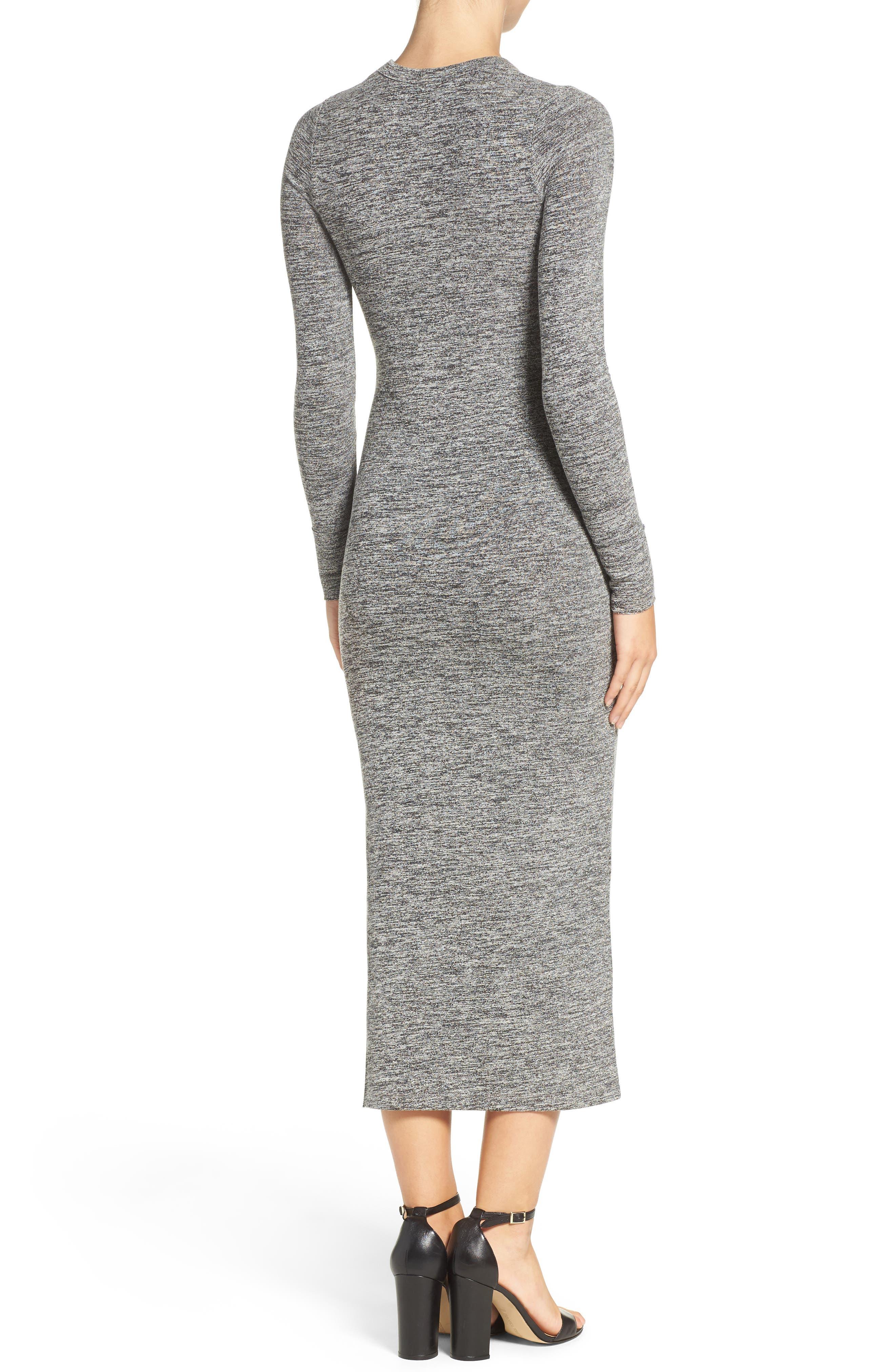 Sweater Maxi Dress,                             Alternate thumbnail 2, color,                             LIGHT GREY