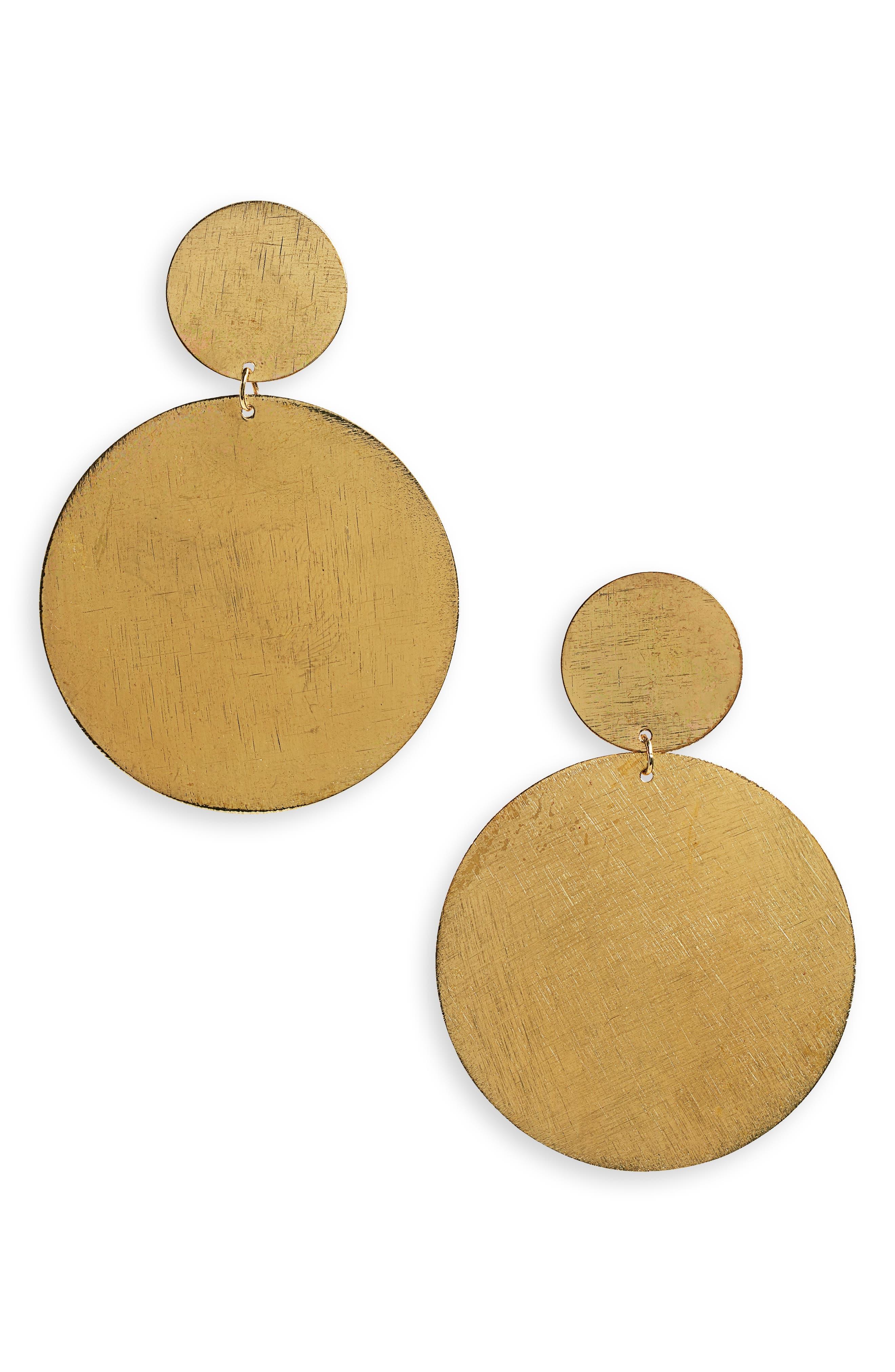 AREA STARS Faustine Drop Earrings in Gold