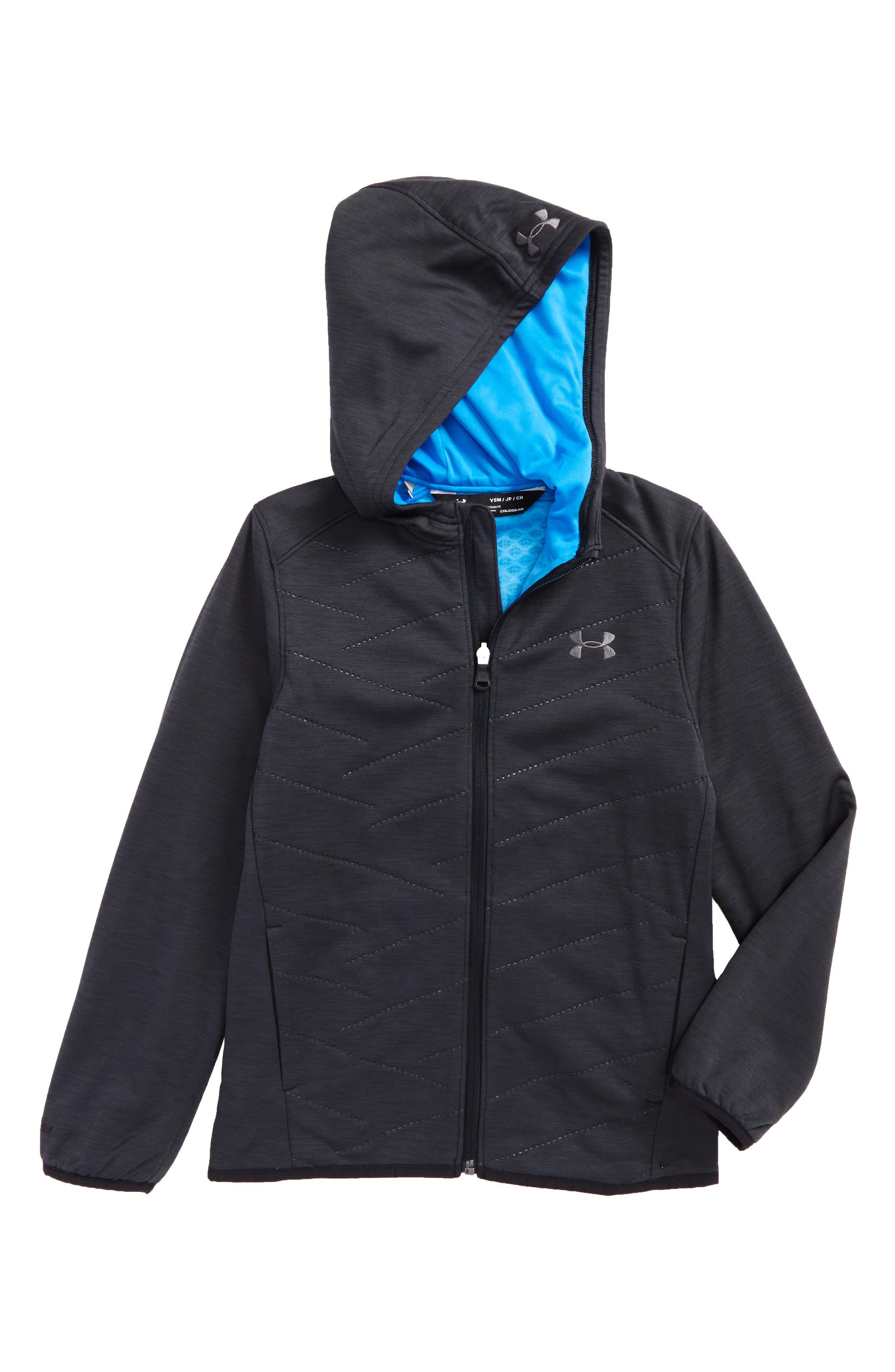 ColdGear<sup>®</sup> Reactor Hybrid Hooded Jacket,                             Main thumbnail 1, color,