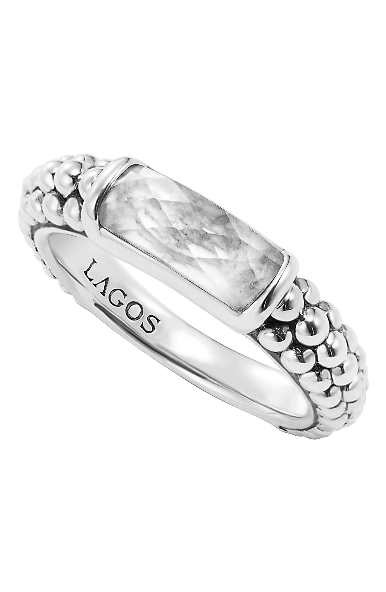 'Maya' Stackable Caviar Ring,                             Alternate thumbnail 4, color,                             040