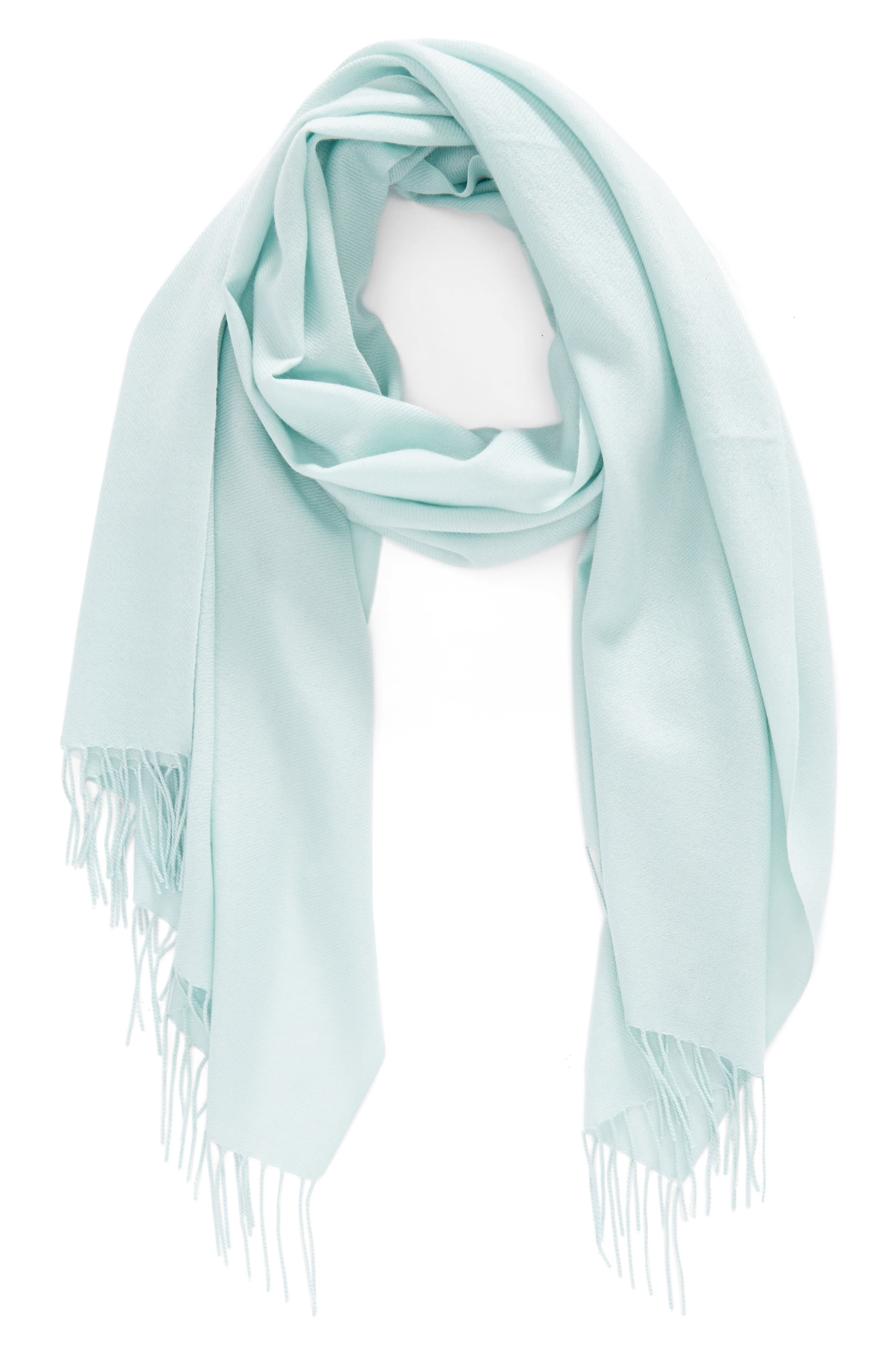 Tissue Weight Wool & Cashmere Scarf,                             Alternate thumbnail 76, color,