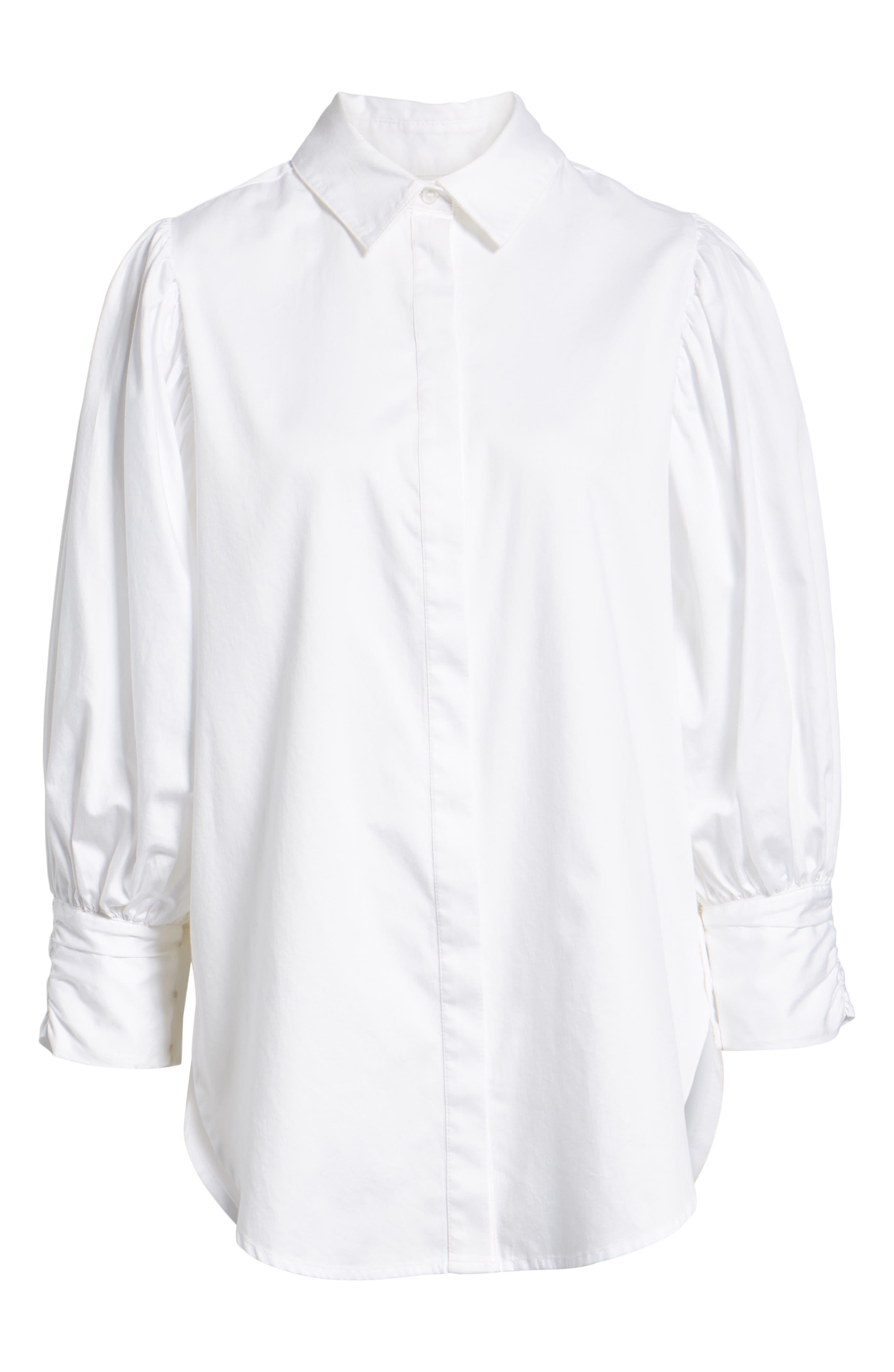 SOMETHING NAVY,                             Full Sleeve Button Through Shirt,                             Alternate thumbnail 6, color,                             100