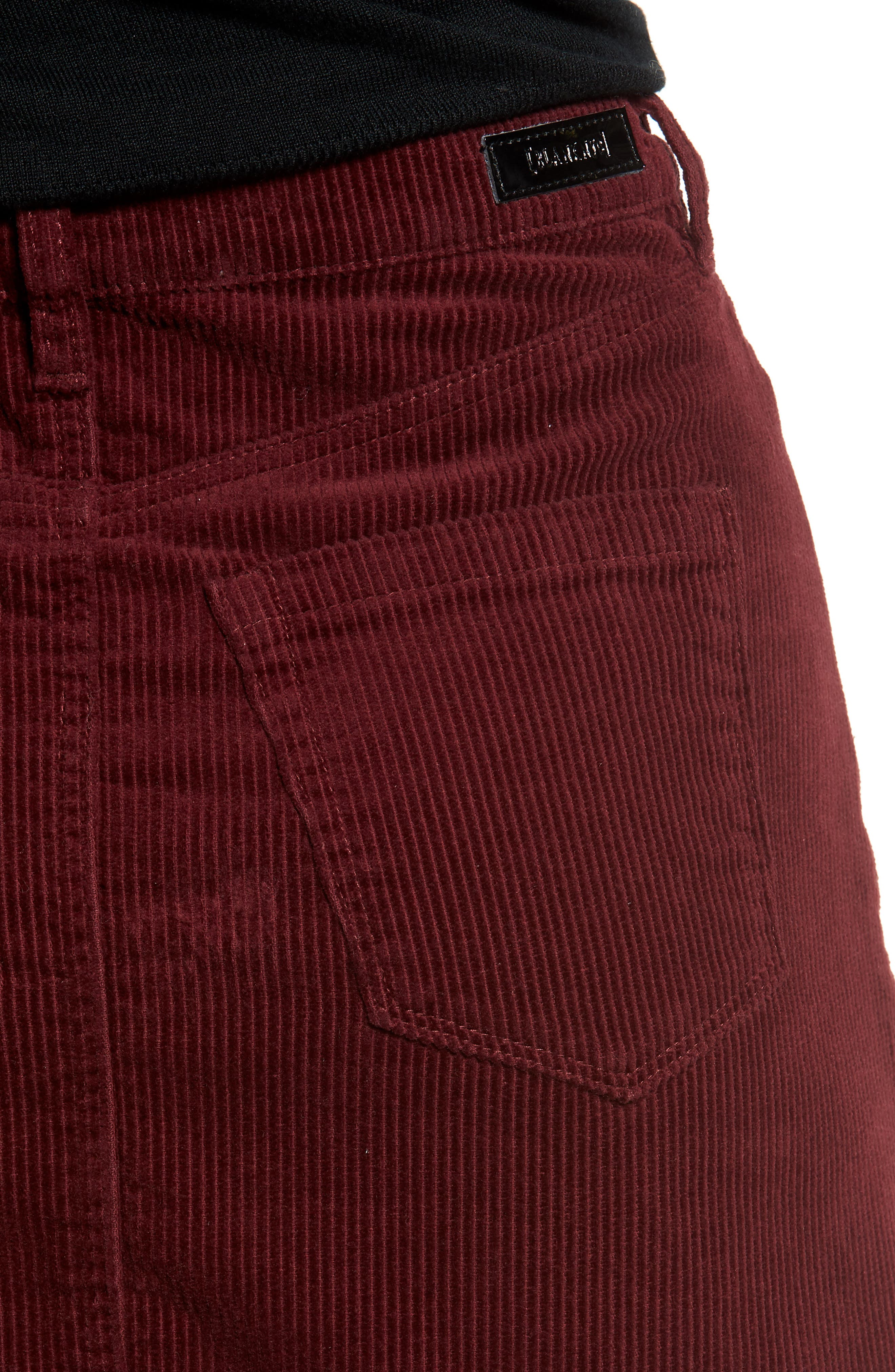 Corduroy A-Line Miniskirt,                             Alternate thumbnail 4, color,                             MERLOT