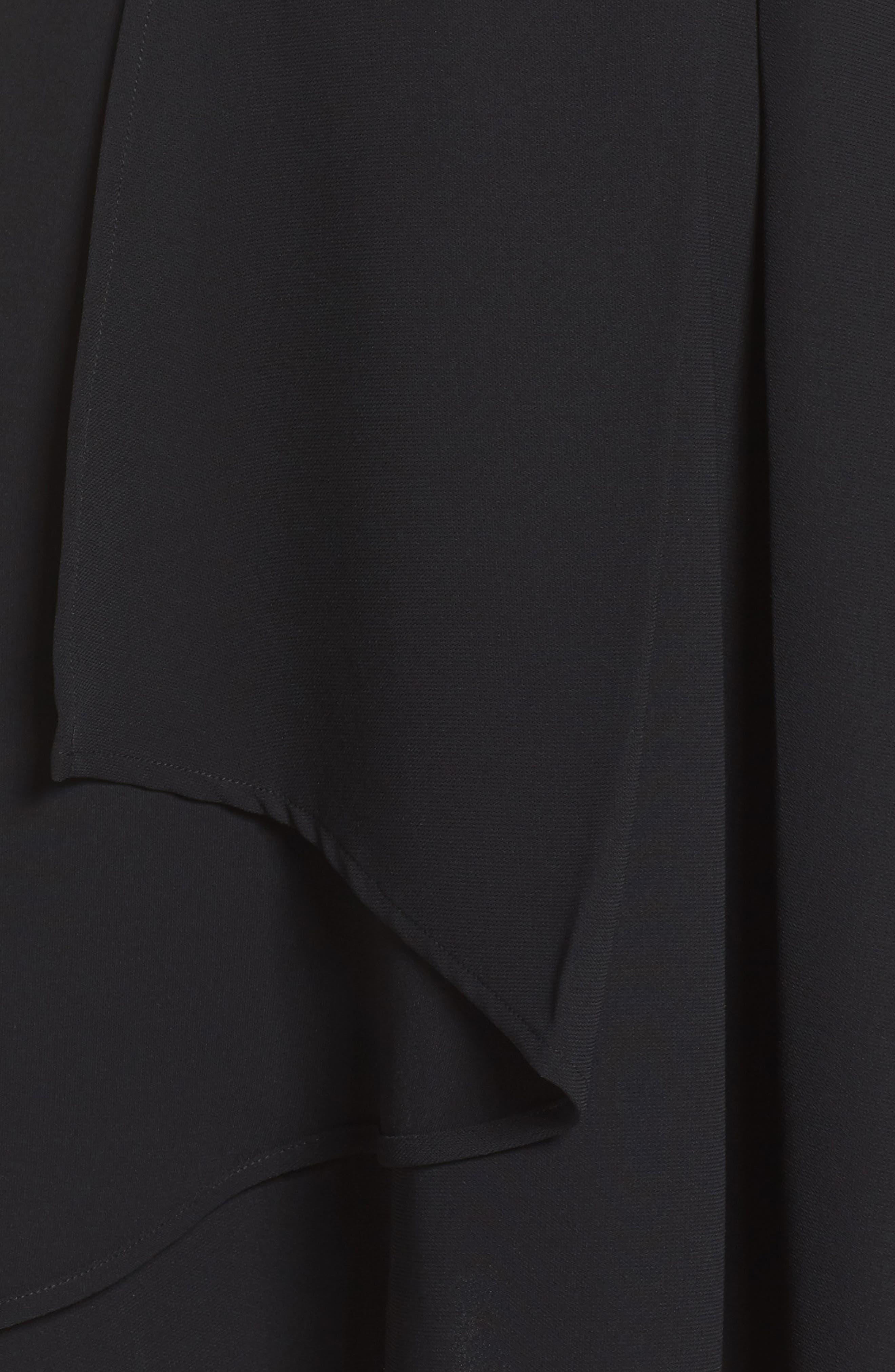 Athena Fit & Flare Dress,                             Alternate thumbnail 5, color,                             001
