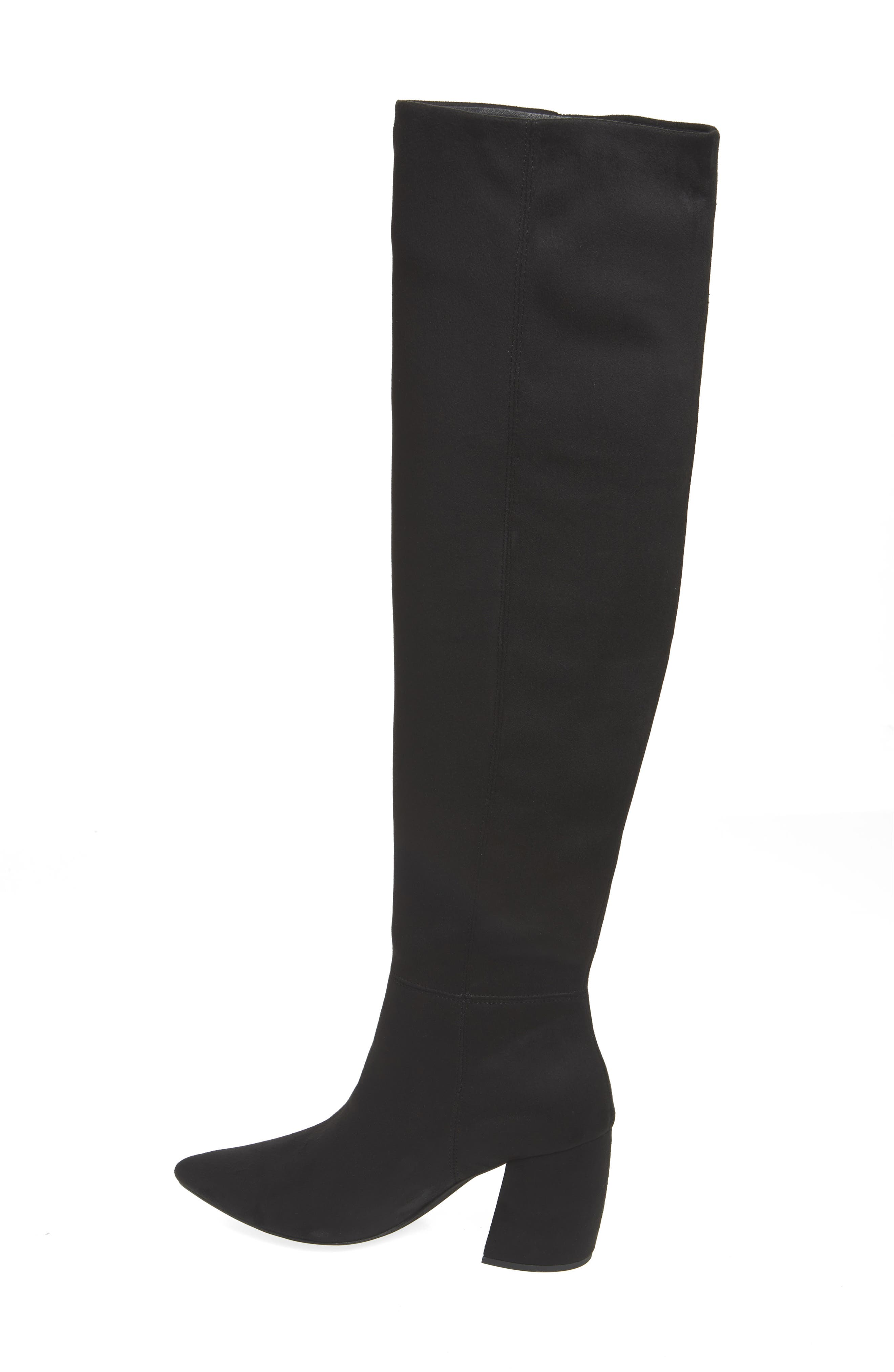 Final Slouch Over the Knee Boot,                             Alternate thumbnail 2, color,                             BLACK SUEDE