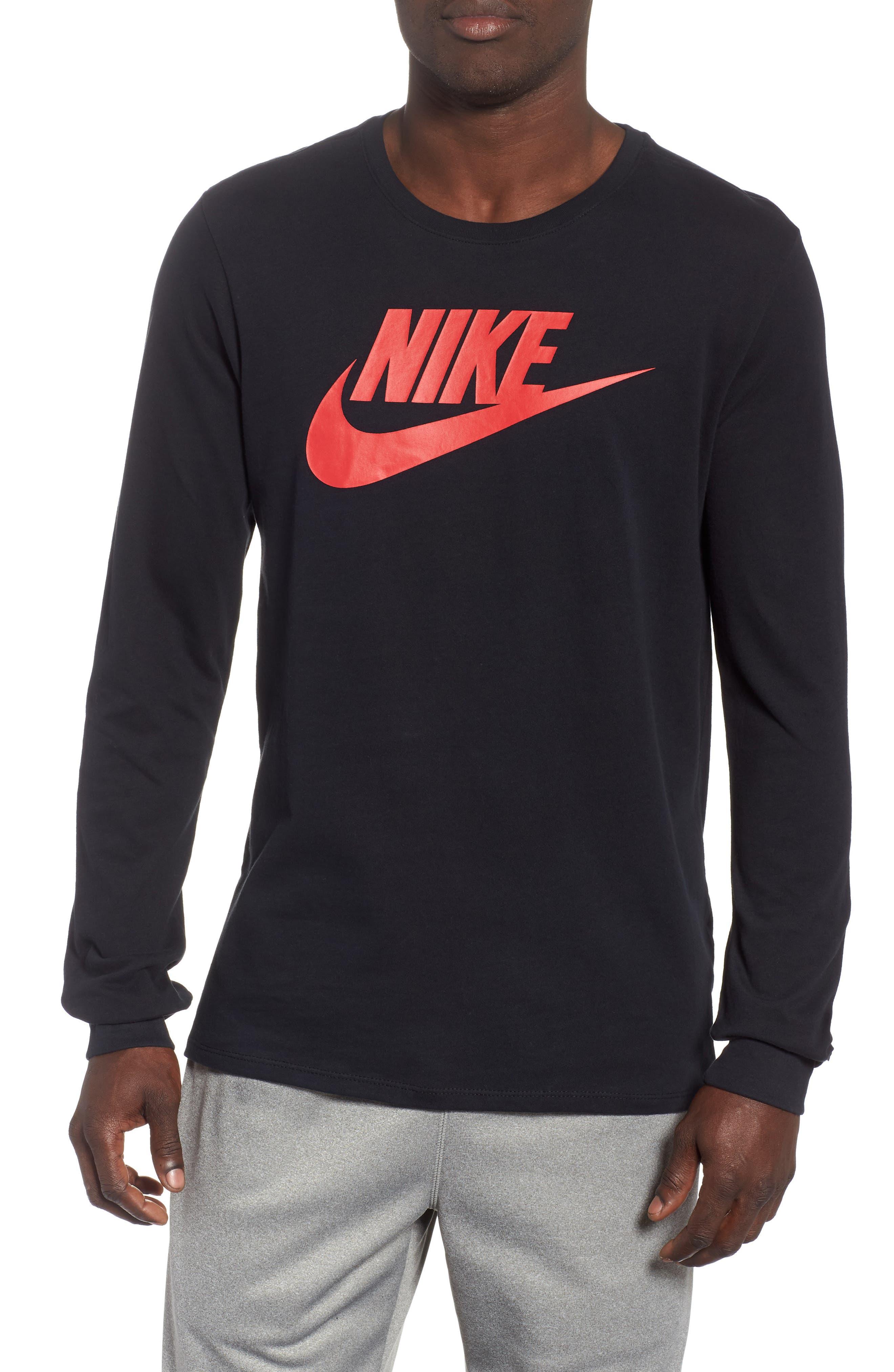 Nike Futura Icon Long Sleeve T-Shirt, Black