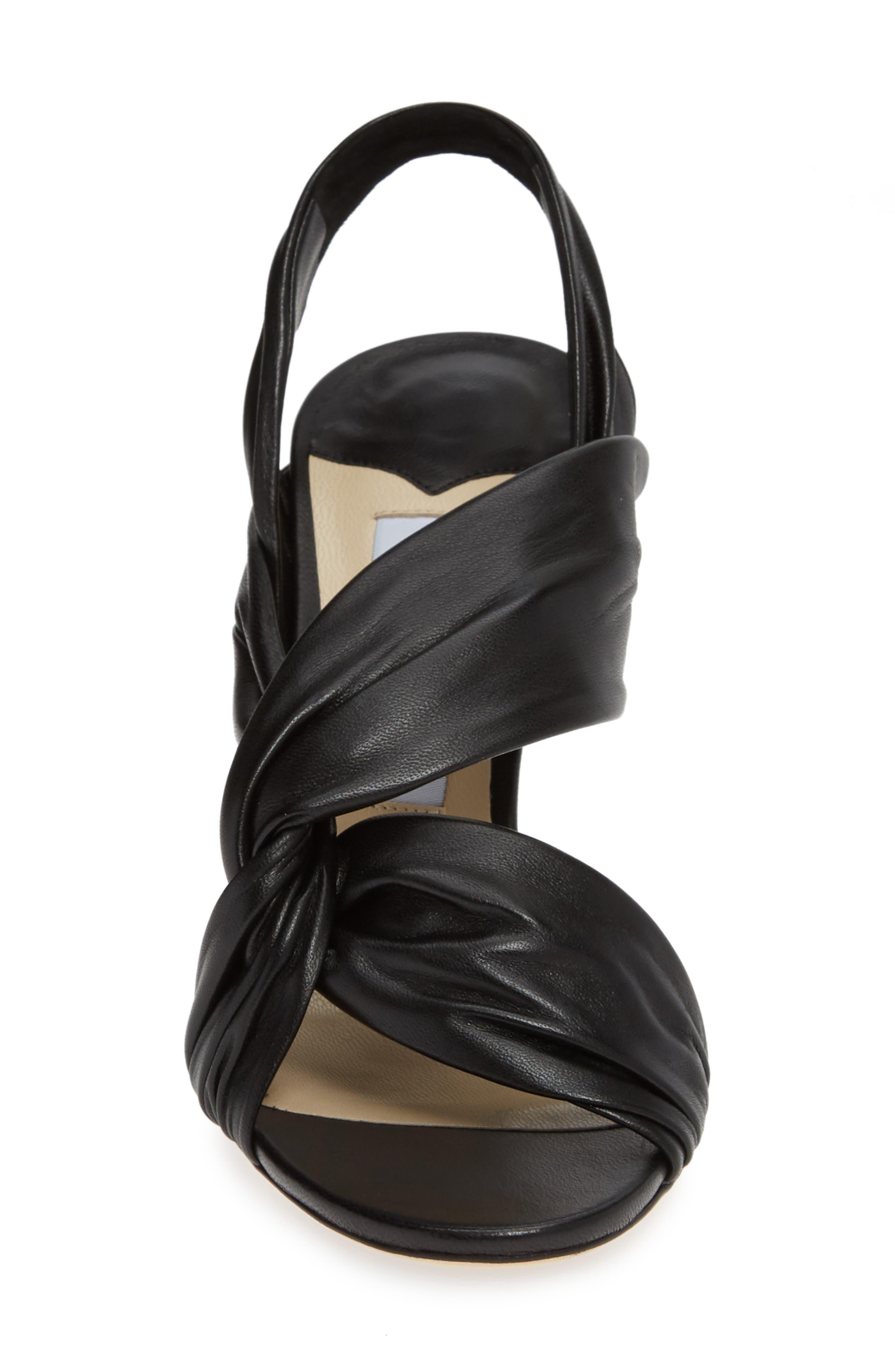 Lalia Slingback Sandal,                             Alternate thumbnail 4, color,                             BLACK