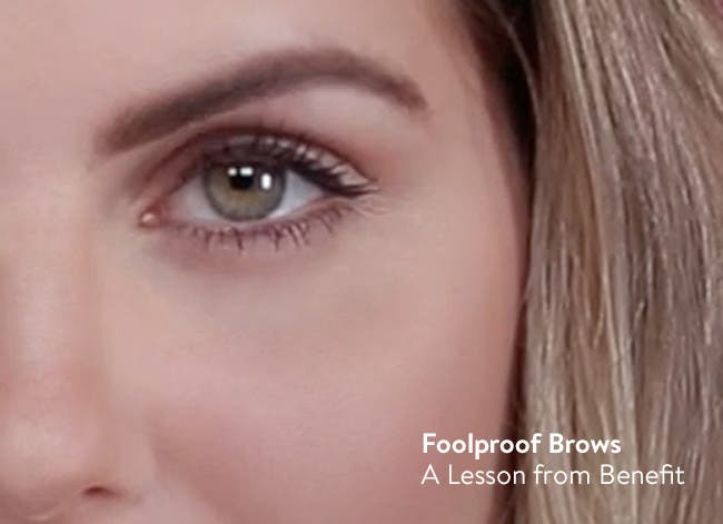 Foolproof brows: a lesson from Benefit.