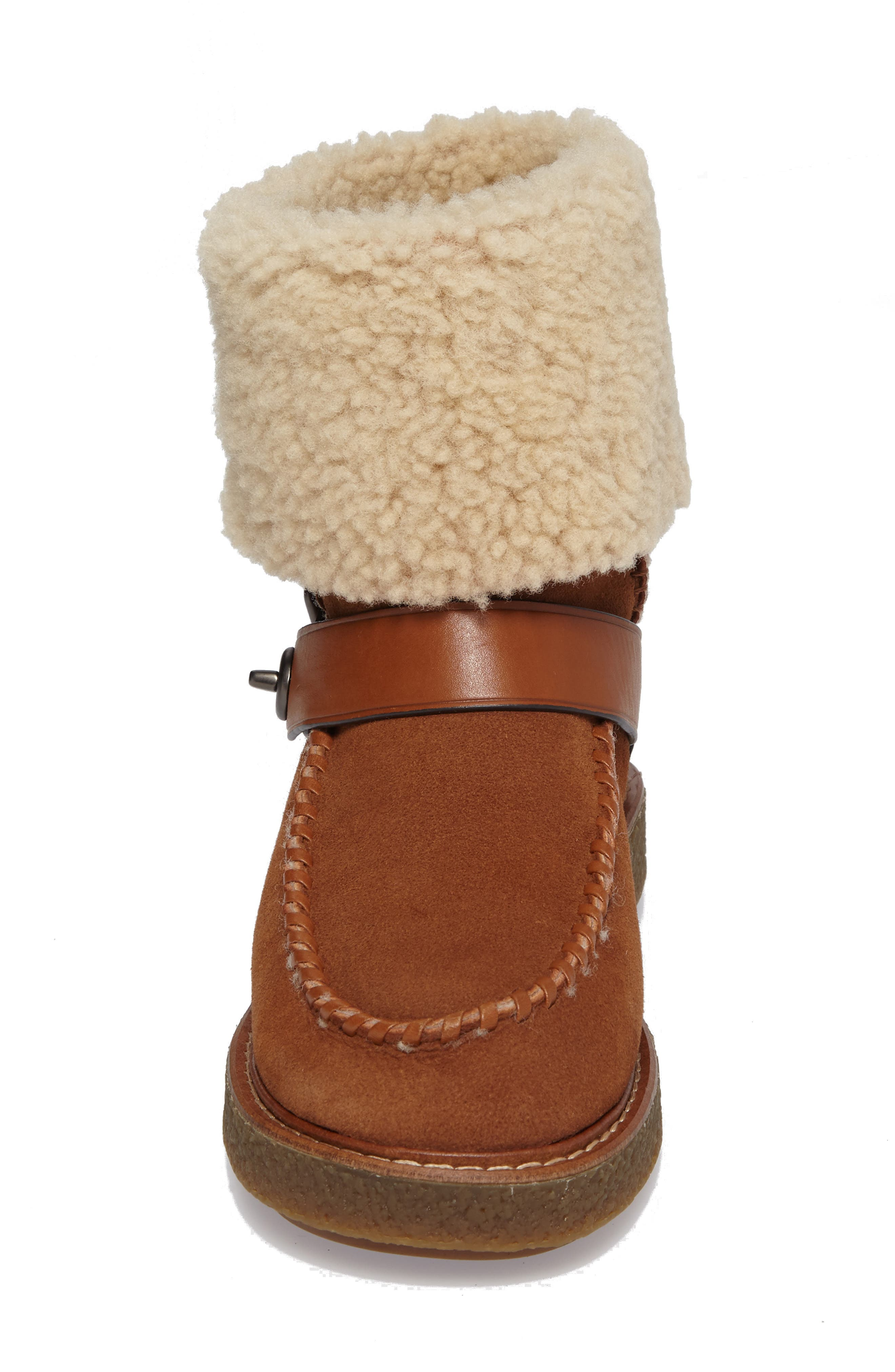 Genuine Shearling Moto Boot,                             Alternate thumbnail 11, color,