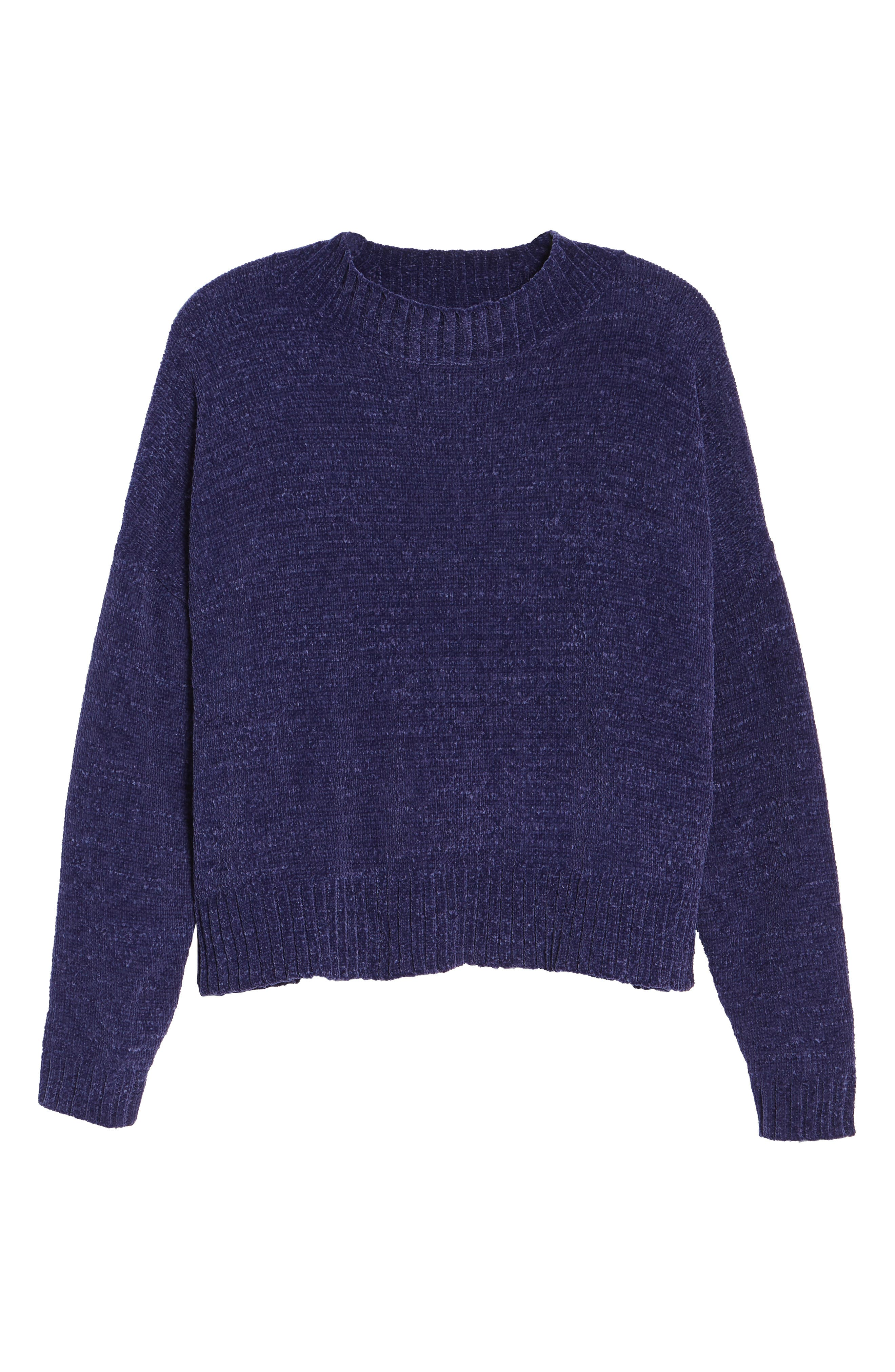 Chenille Funnel Neck Sweater,                             Alternate thumbnail 28, color,