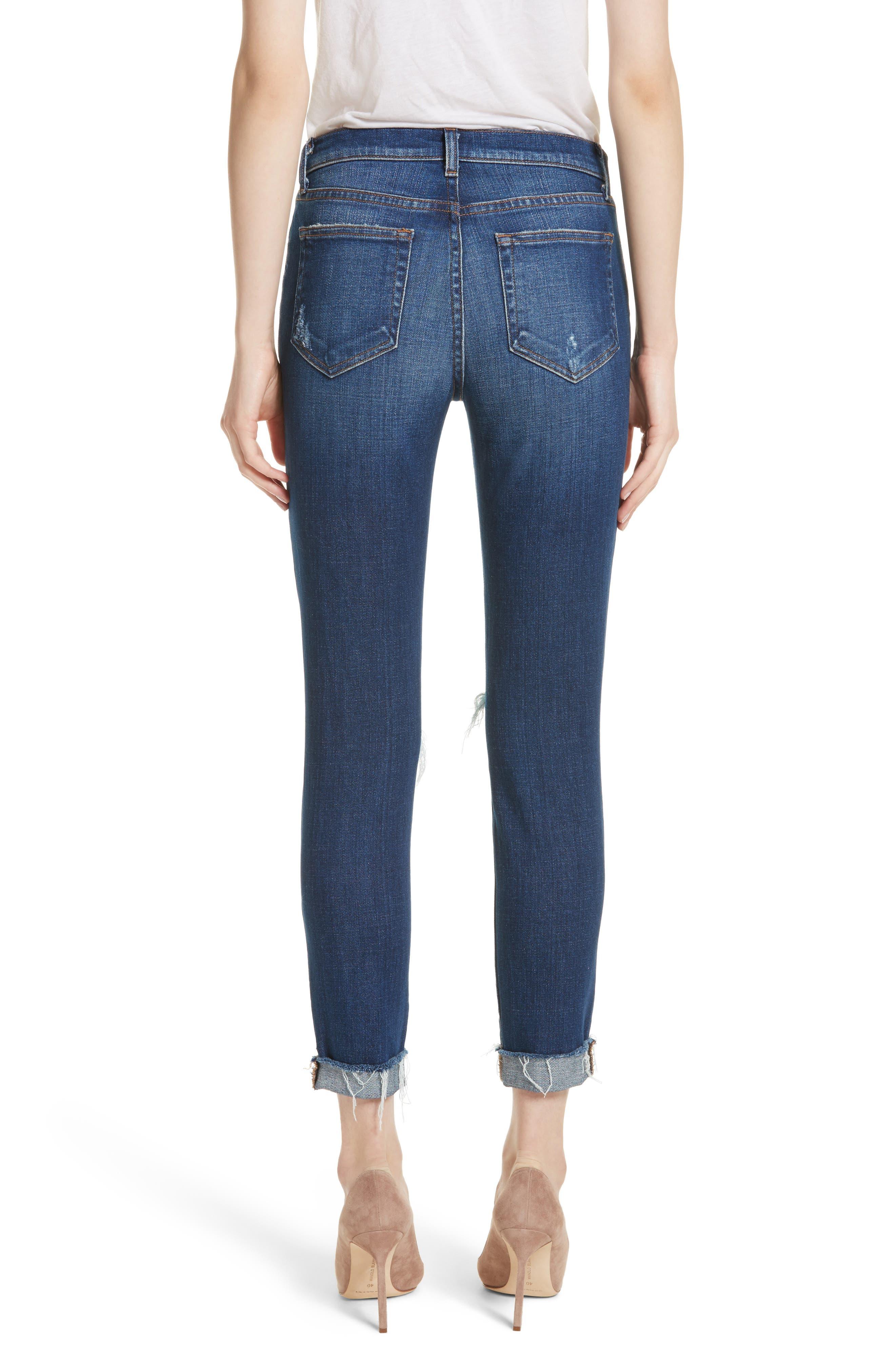 Rachel Ripped Crop Slim Fit Jeans,                             Alternate thumbnail 2, color,                             DIAMOND DESTRUCT