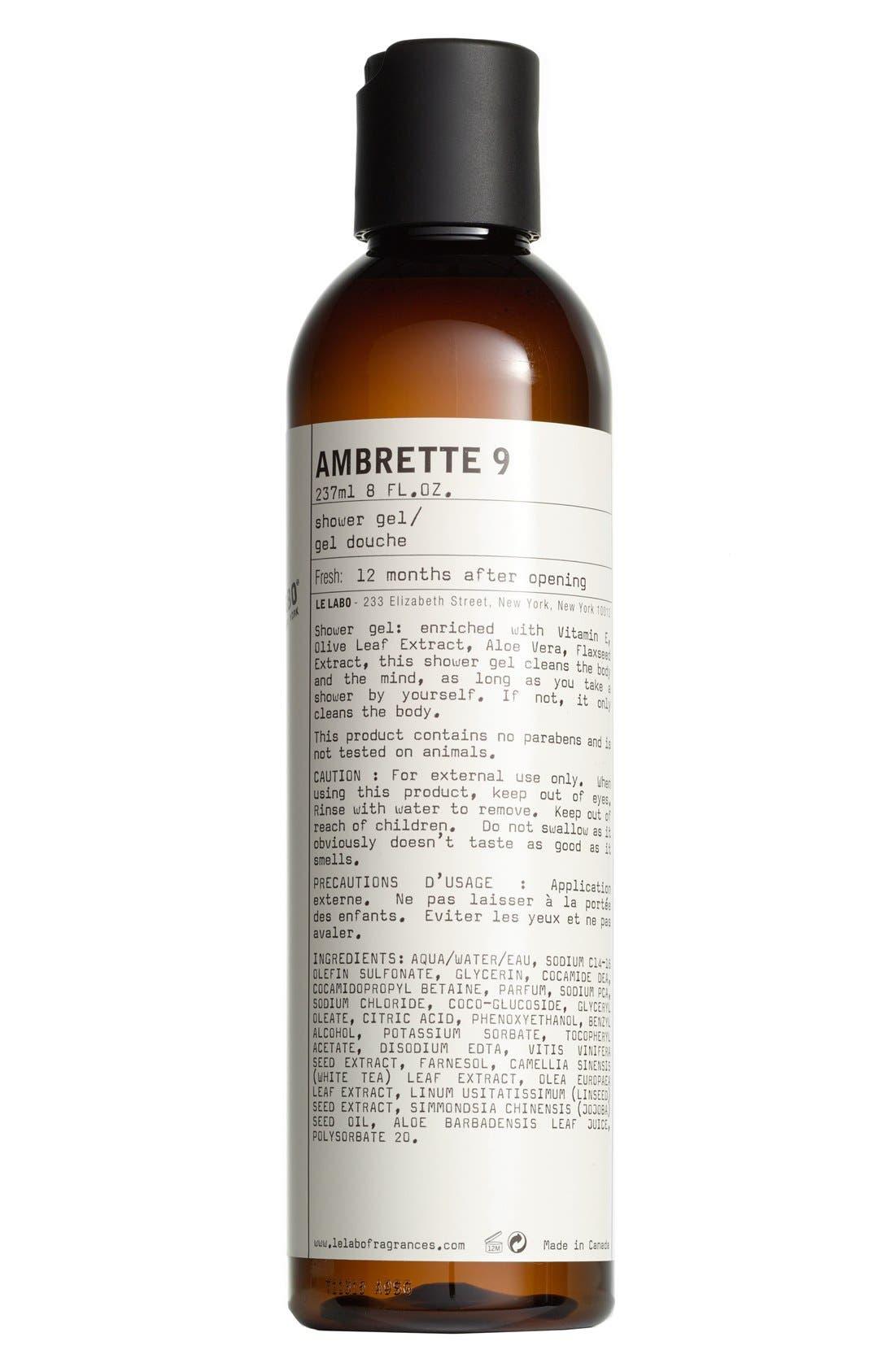 'Ambrette 9' Shower Gel,                             Main thumbnail 1, color,                             NO COLOR