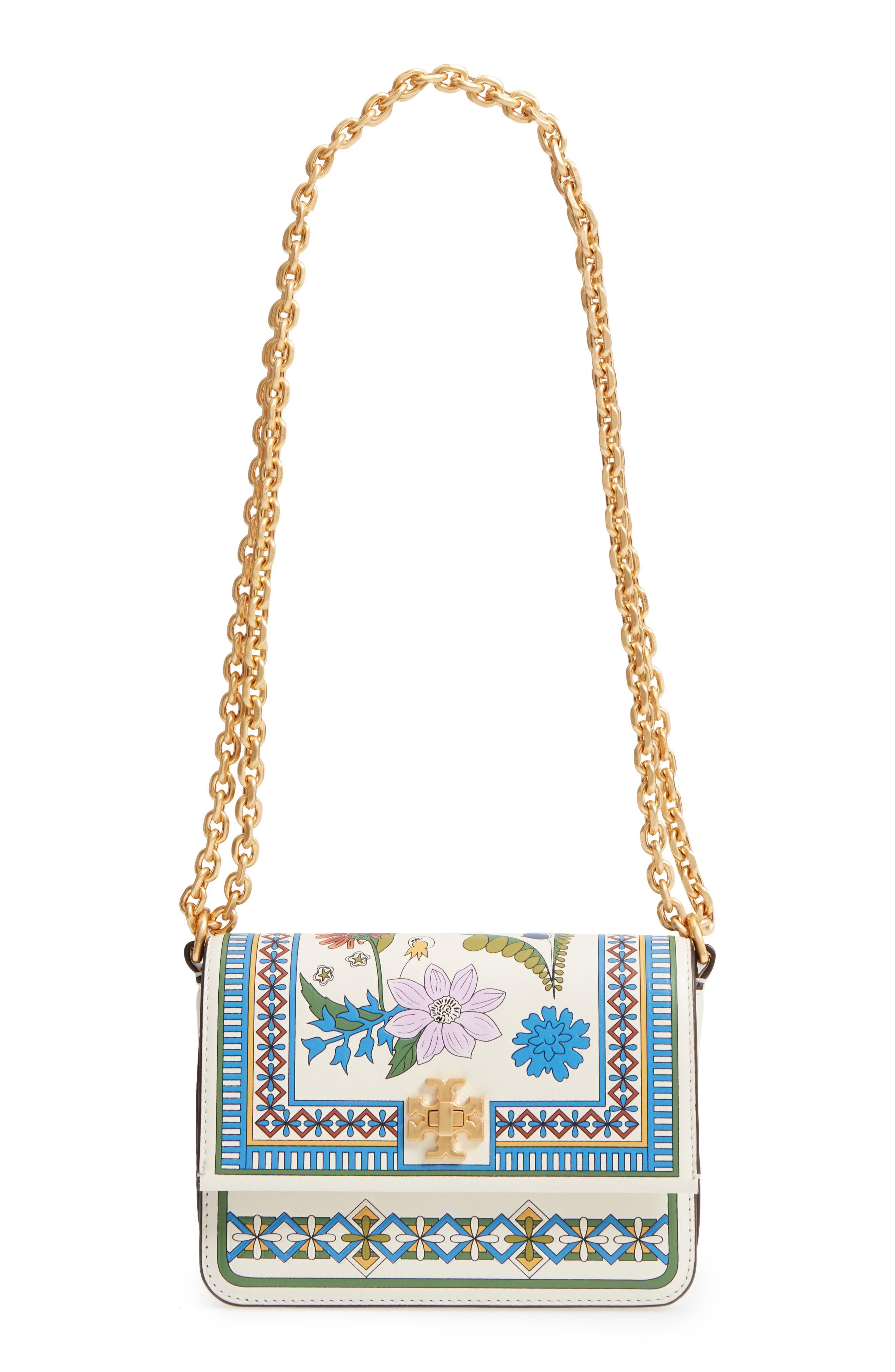 Mini Kira Floral Print Leather Bag,                             Main thumbnail 1, color,                             IVORY MEADOW SWEET