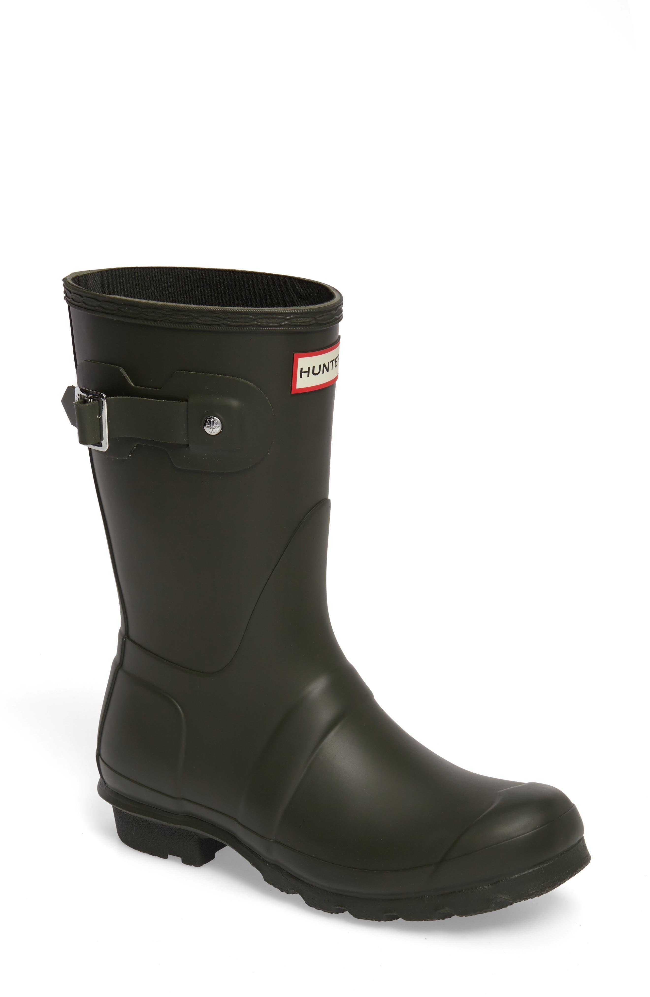 Original Short Rain Boot,                         Main,                         color, DARK OLIVE