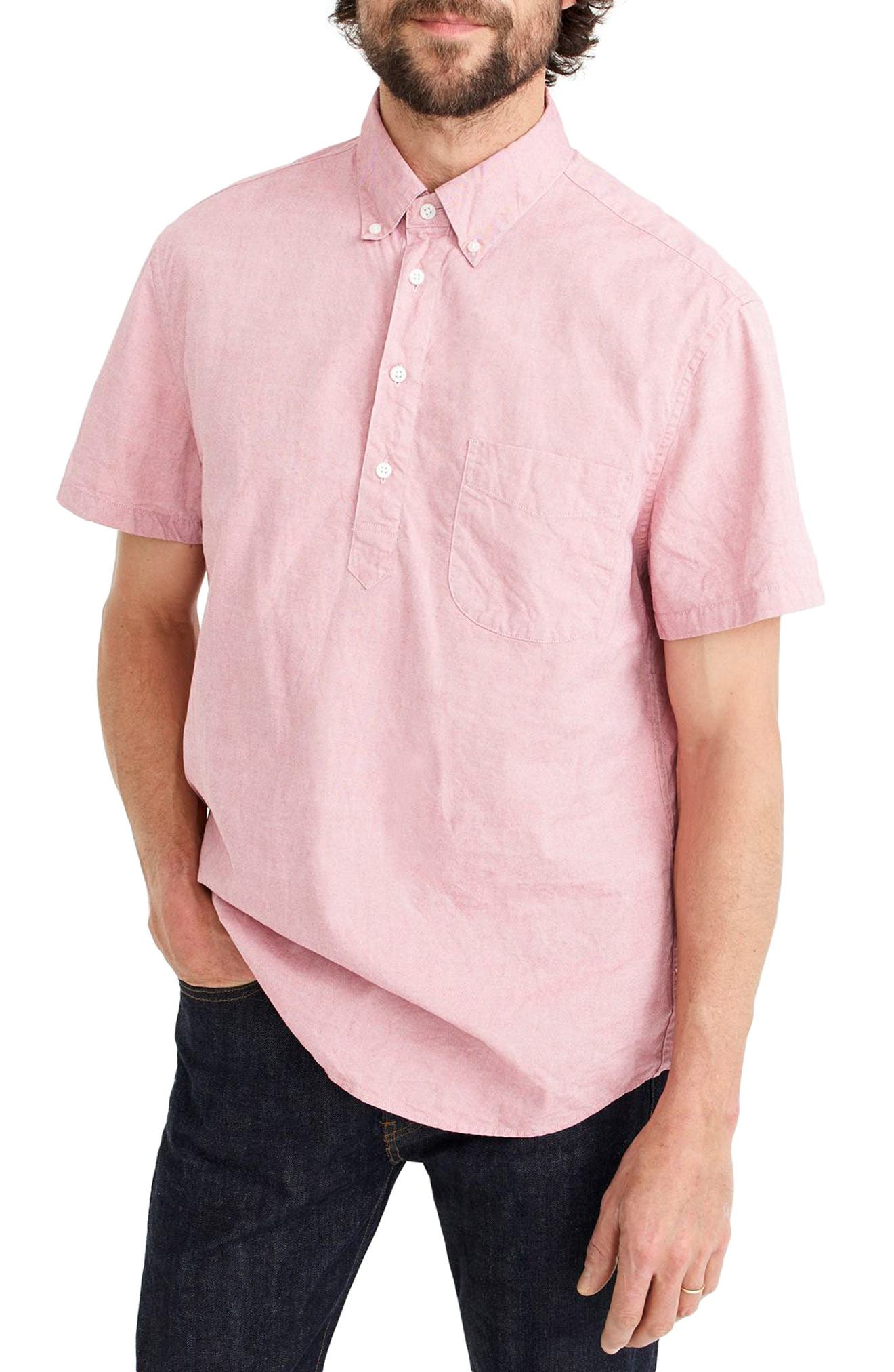 Stretch Secret Wash Short Sleeve Popover Shirt,                         Main,                         color, 610
