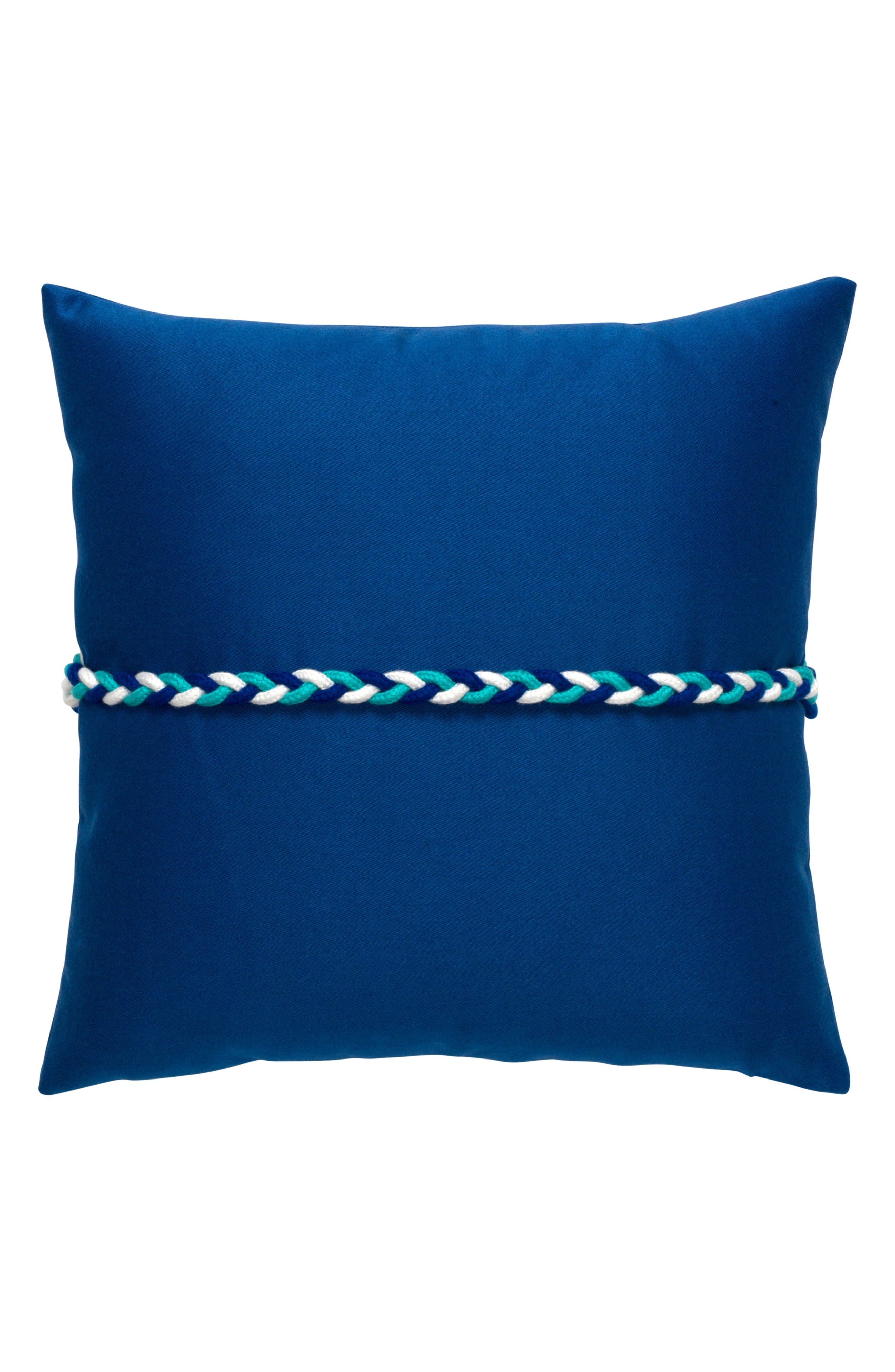 Cobalt Frogs Clasp Indoor/Outdoor Accent Pillow,                             Alternate thumbnail 2, color,                             400