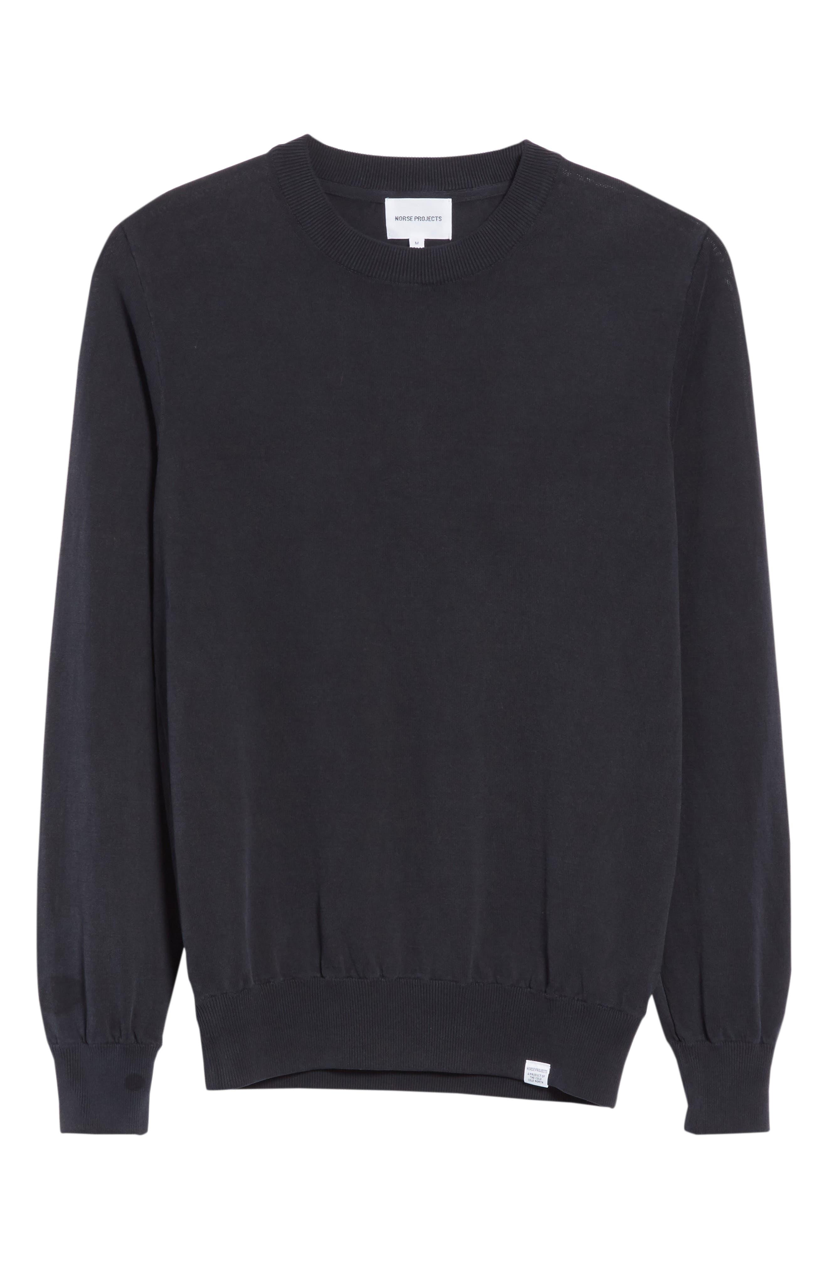 Magnus Combed Cotton Crewneck Sweater,                             Alternate thumbnail 6, color,                             410
