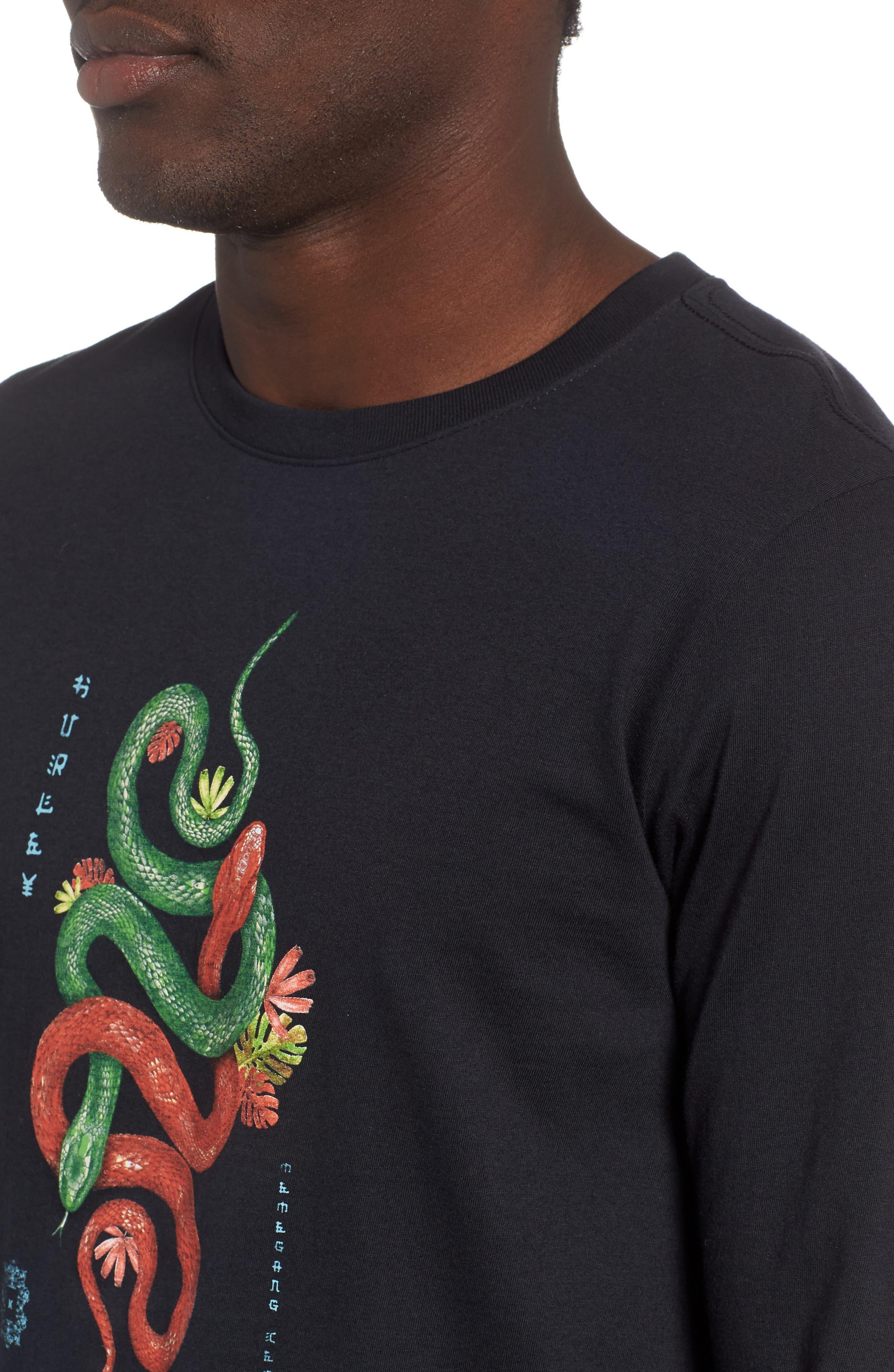 Tread Lightly Long Sleeve T-Shirt,                             Alternate thumbnail 4, color,                             BLACK
