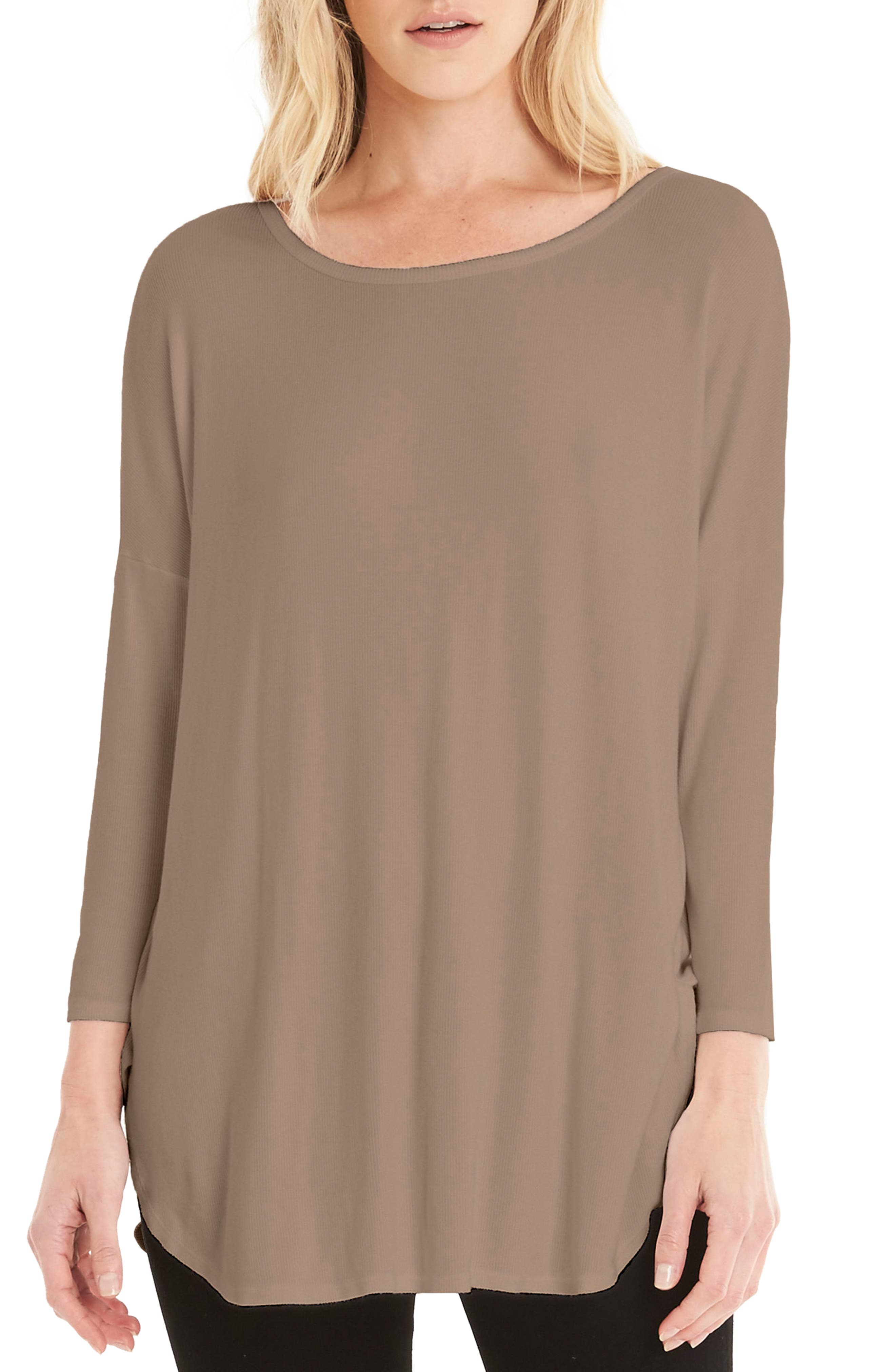 Stretch Knit Tee,                             Main thumbnail 3, color,