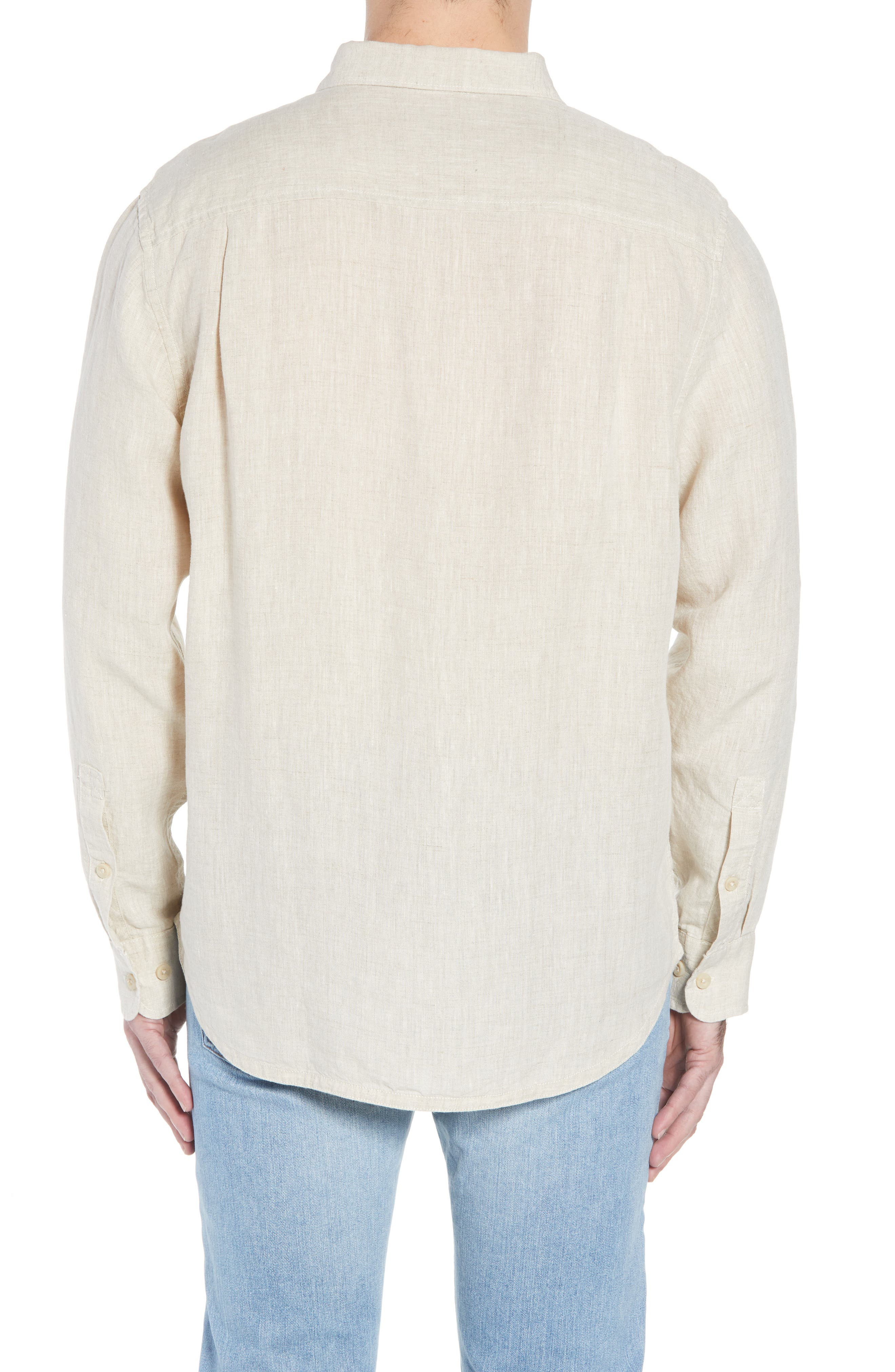 Seaspray Breezer Linen Shirt,                             Alternate thumbnail 6, color,