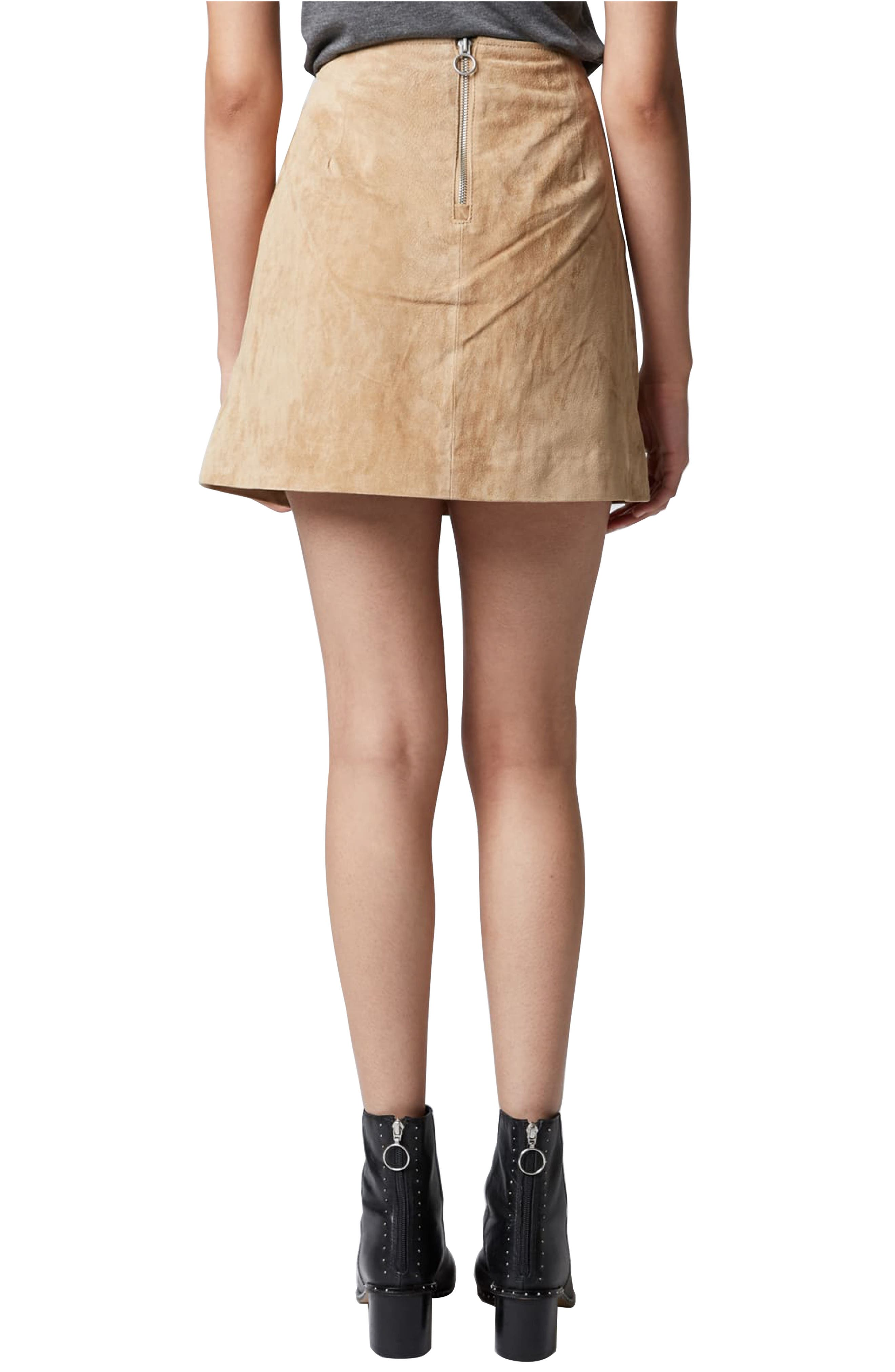 Suede Miniskirt,                             Alternate thumbnail 10, color,