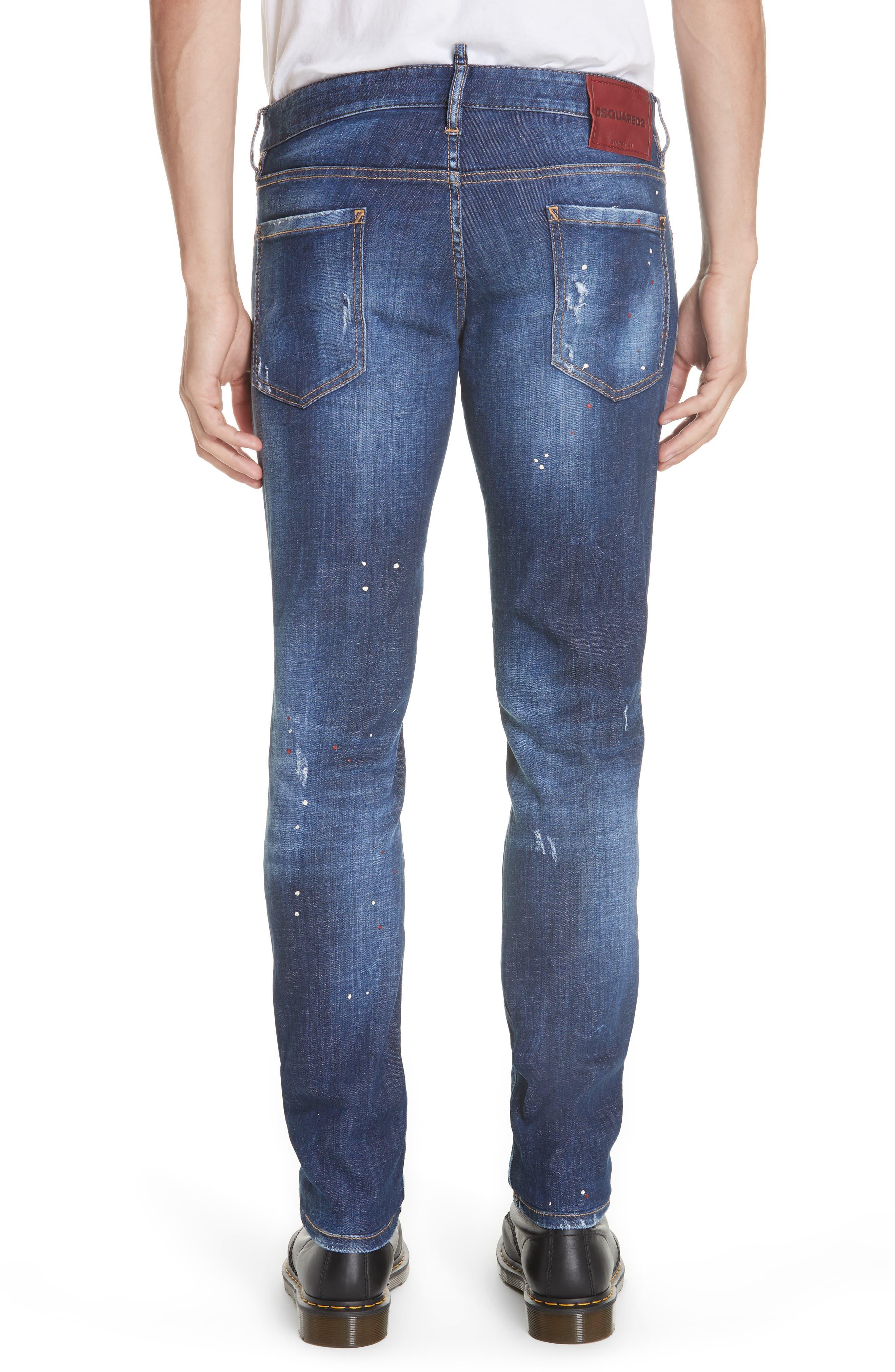 Paint Splatter Slim Fit Jeans,                             Alternate thumbnail 2, color,                             400