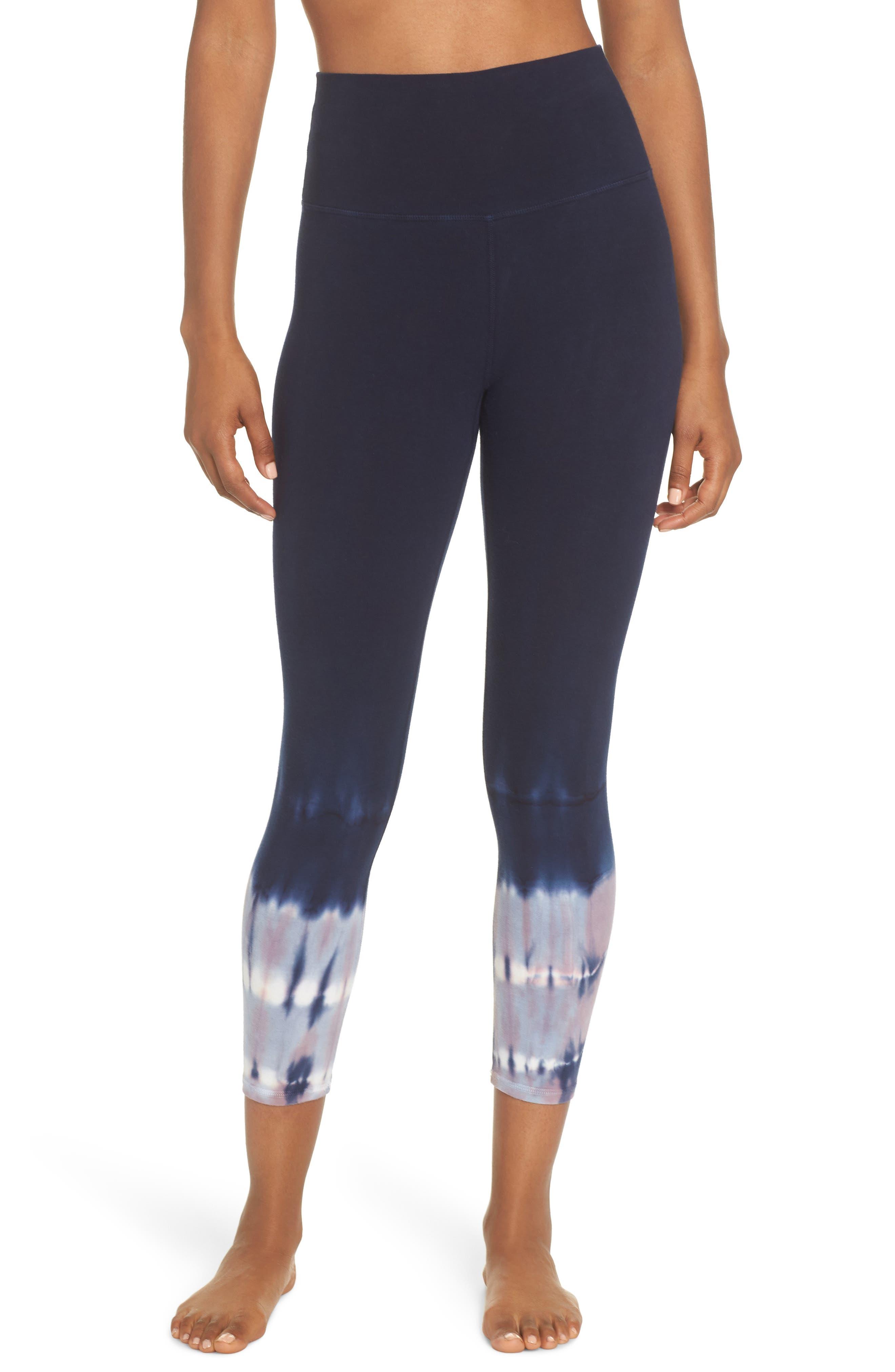 Electric & Rose Sunrise Tie Dye Capri Leggings