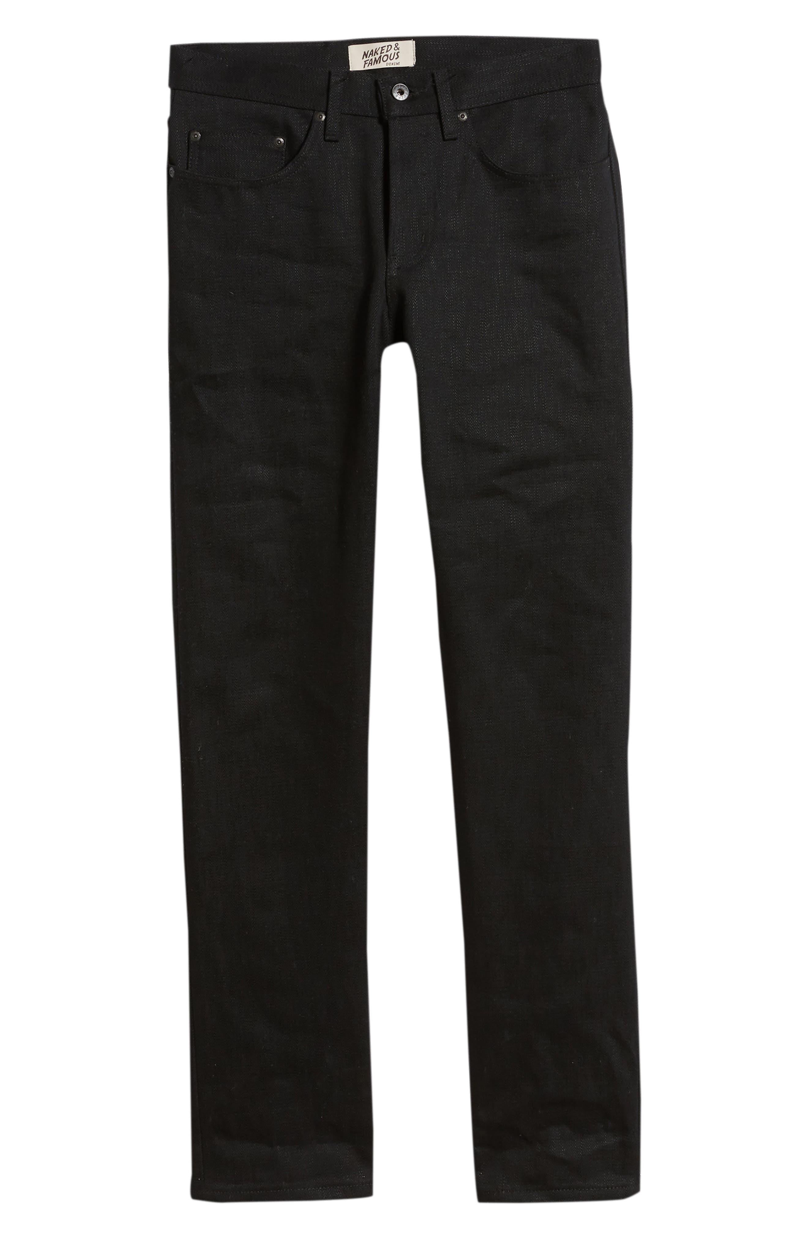 Weird Guy Slim Fit Jeans,                             Alternate thumbnail 6, color,                             ELEPHANT 7 EL DIABLO