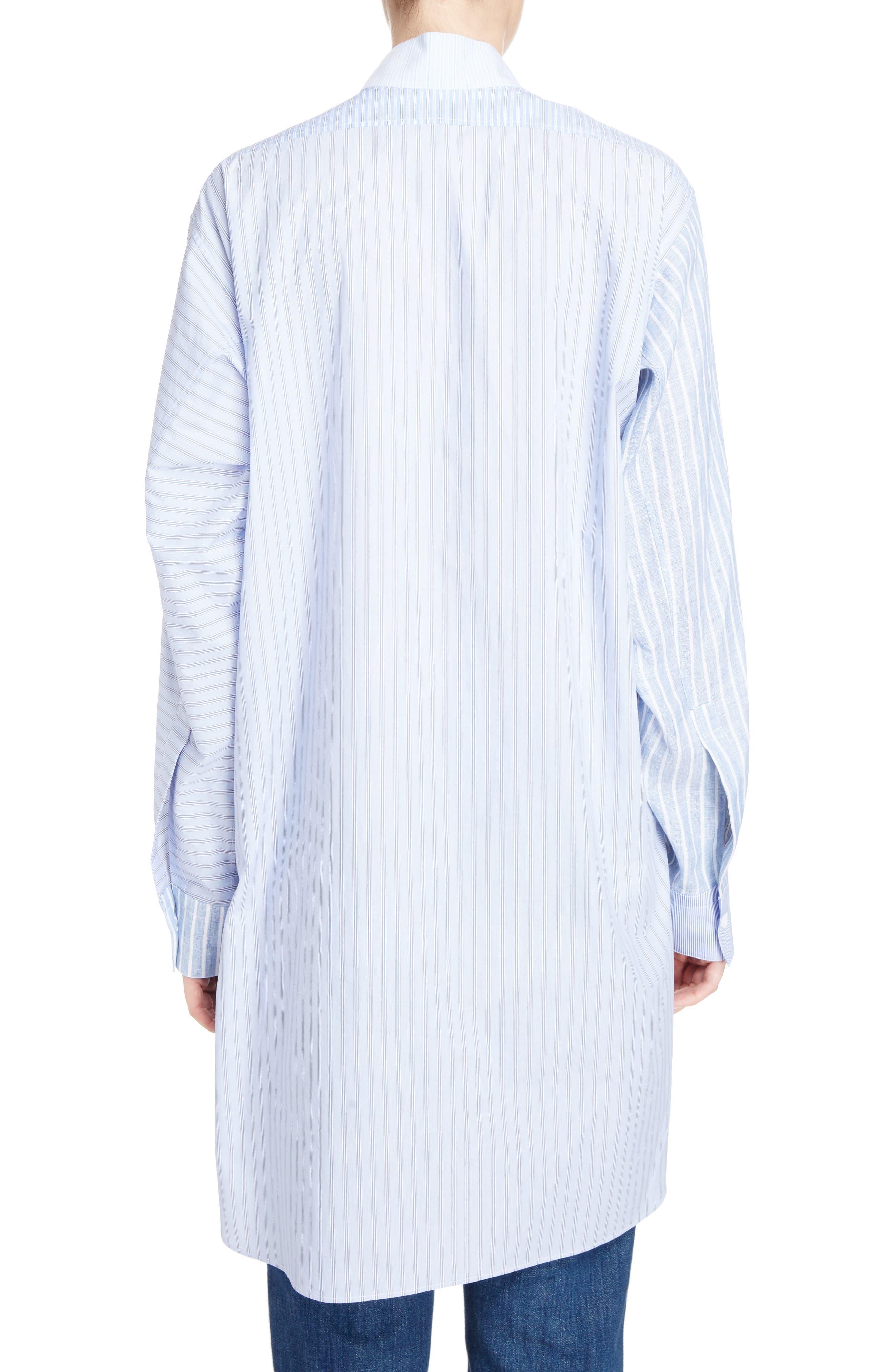 Patchwork Cotton & Linen Shirt,                             Alternate thumbnail 2, color,                             469