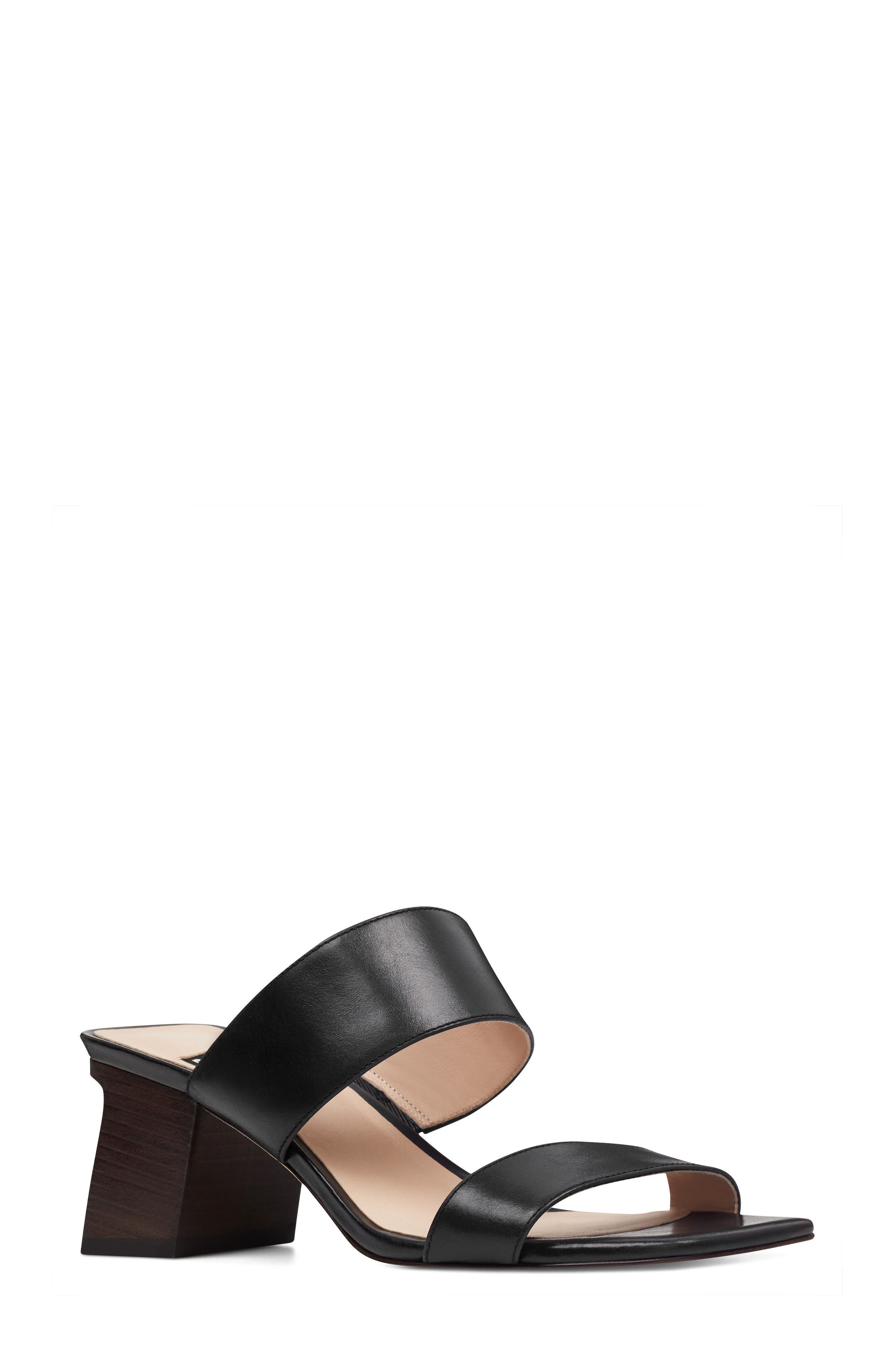 Churen - 40th Anniversary Capsule Collection Sandal,                         Main,                         color, BLACK LEATHER