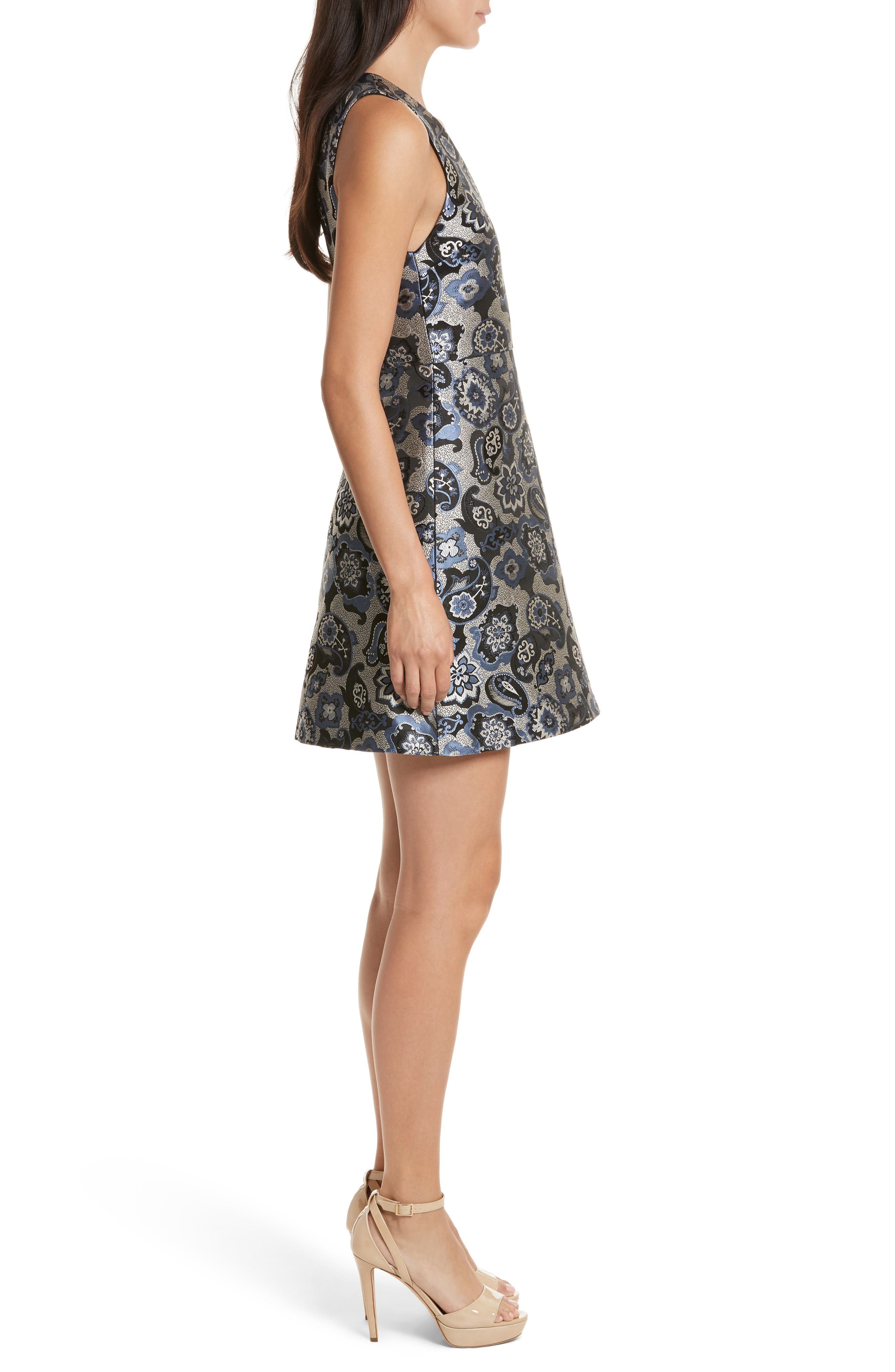 Malin V-Neck Dress,                             Alternate thumbnail 3, color,                             499