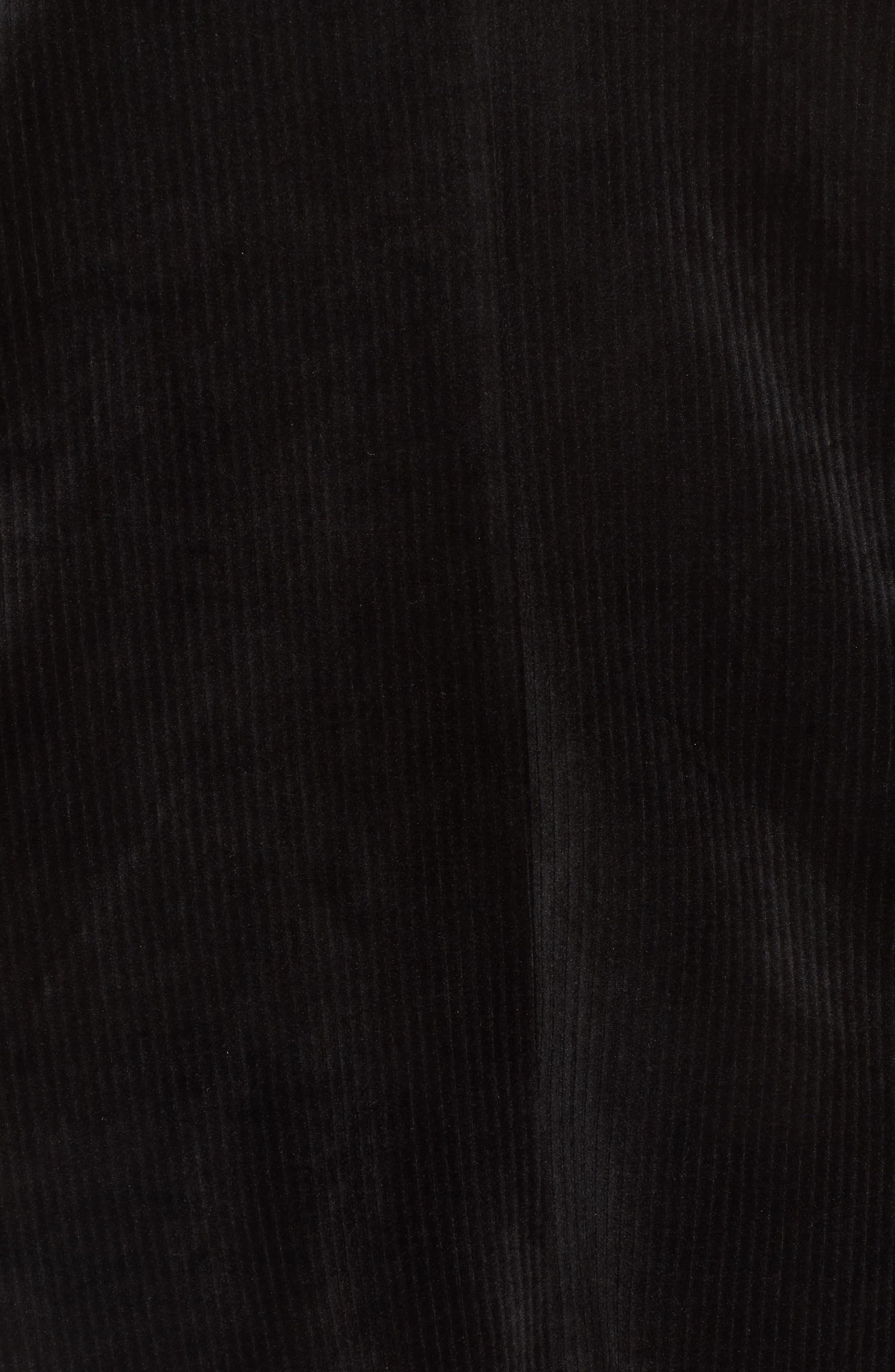 Hannah Velvet Shift Dress,                             Alternate thumbnail 6, color,                             001