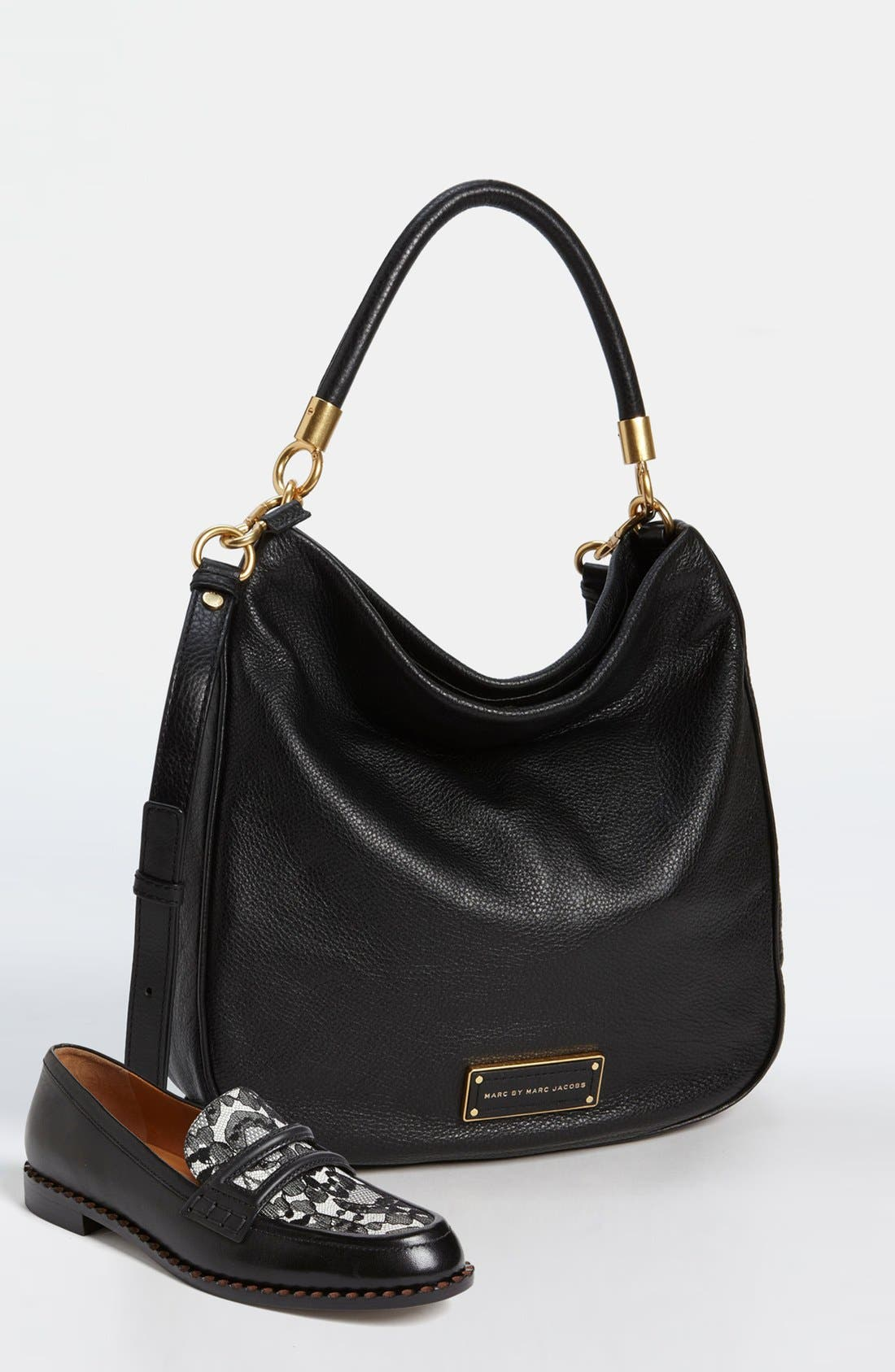 MARC BY MARC JACOBS 'Too Hot to Handle' Hobo,                             Alternate thumbnail 6, color,                             001