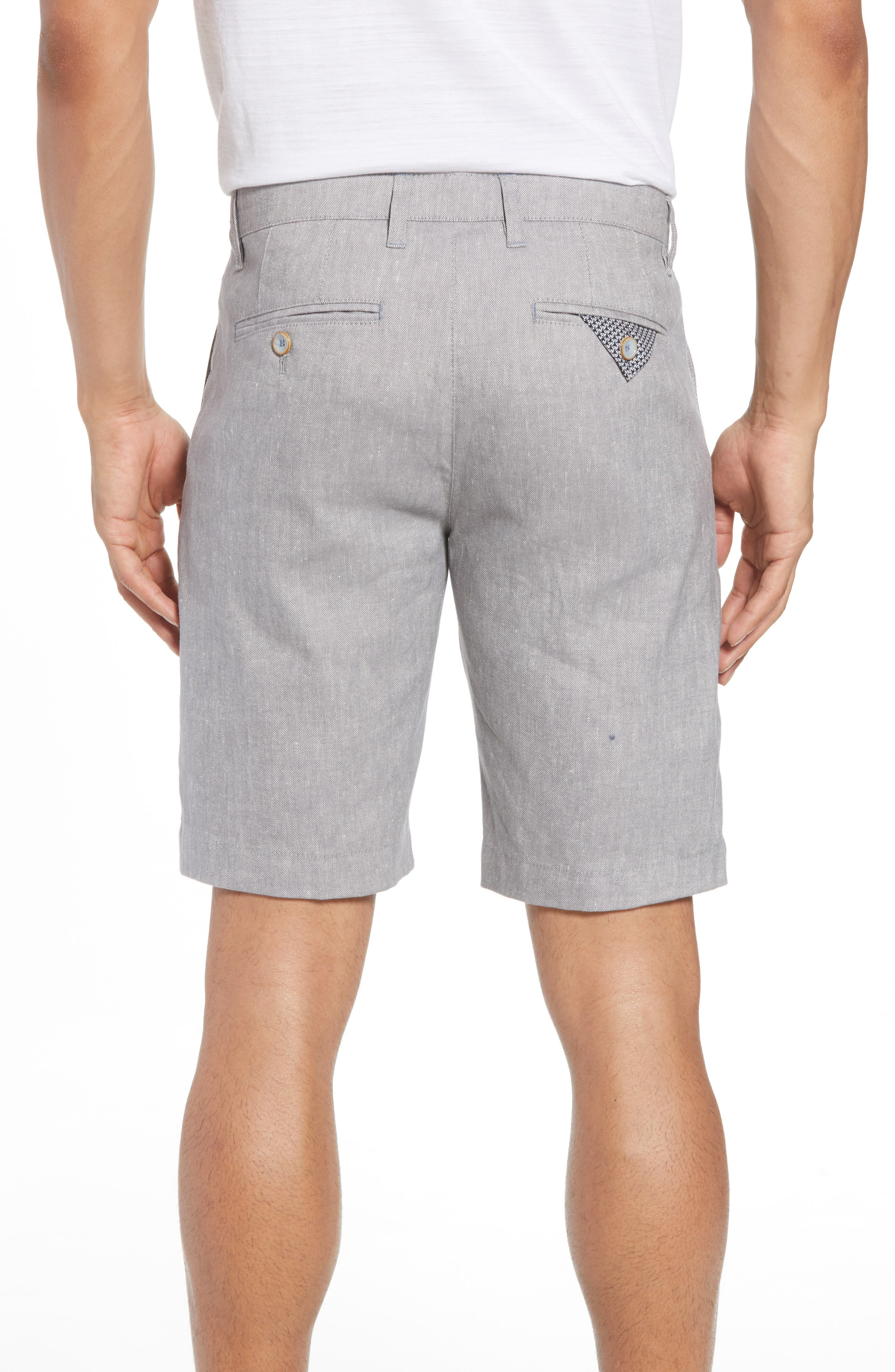 Newshow Flat Front Stretch Cotton Blend Shorts,                             Alternate thumbnail 2, color,                             050