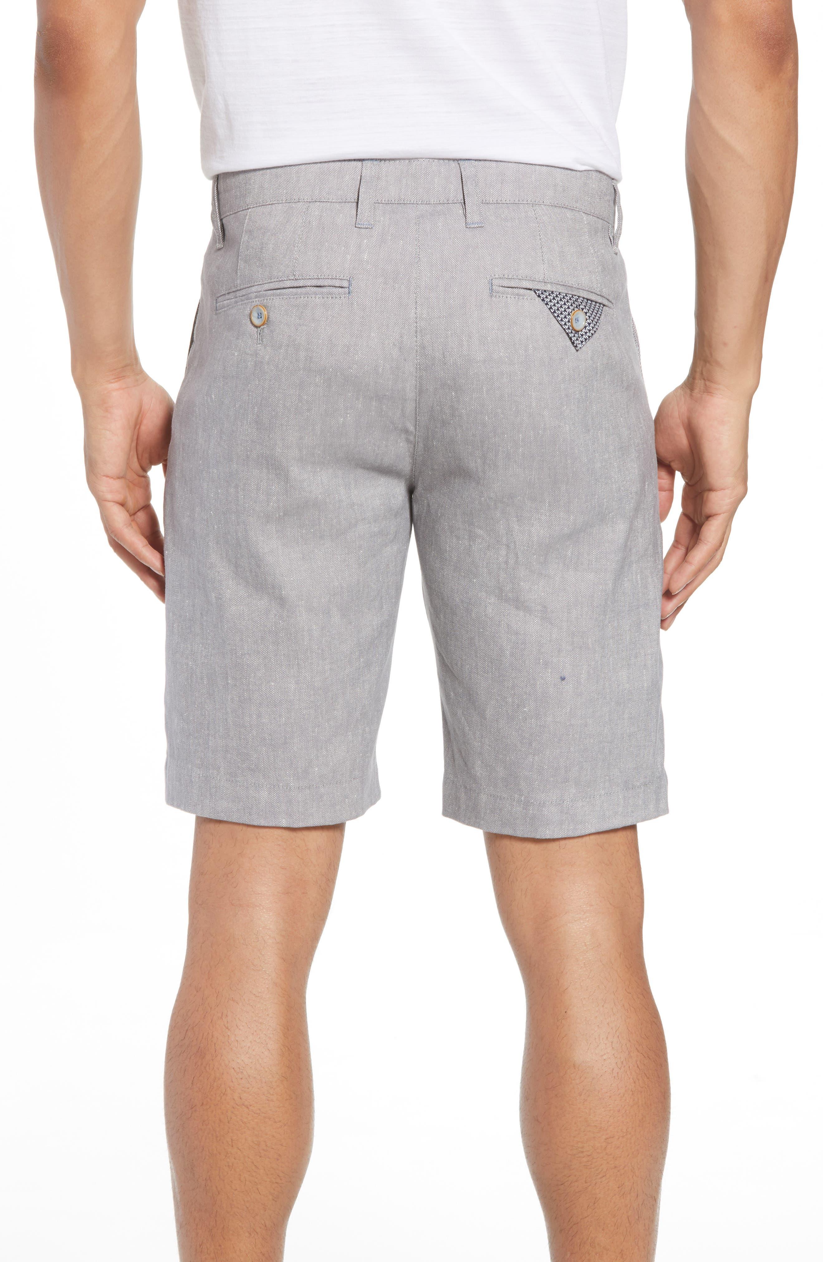 Newshow Flat Front Stretch Cotton Blend Shorts,                             Alternate thumbnail 2, color,                             GREY