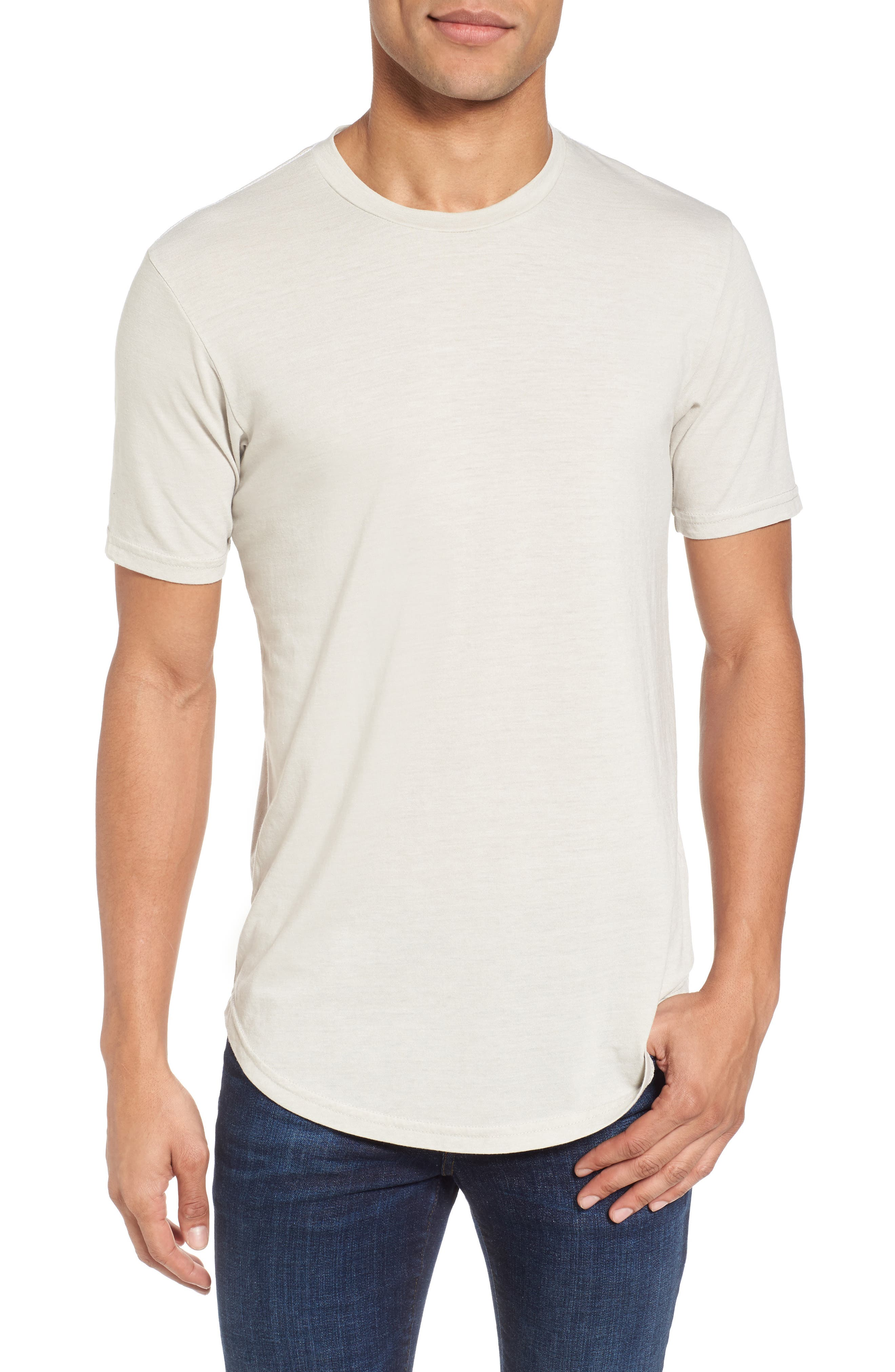 Scallop Triblend Crewneck T-Shirt,                         Main,                         color, 020