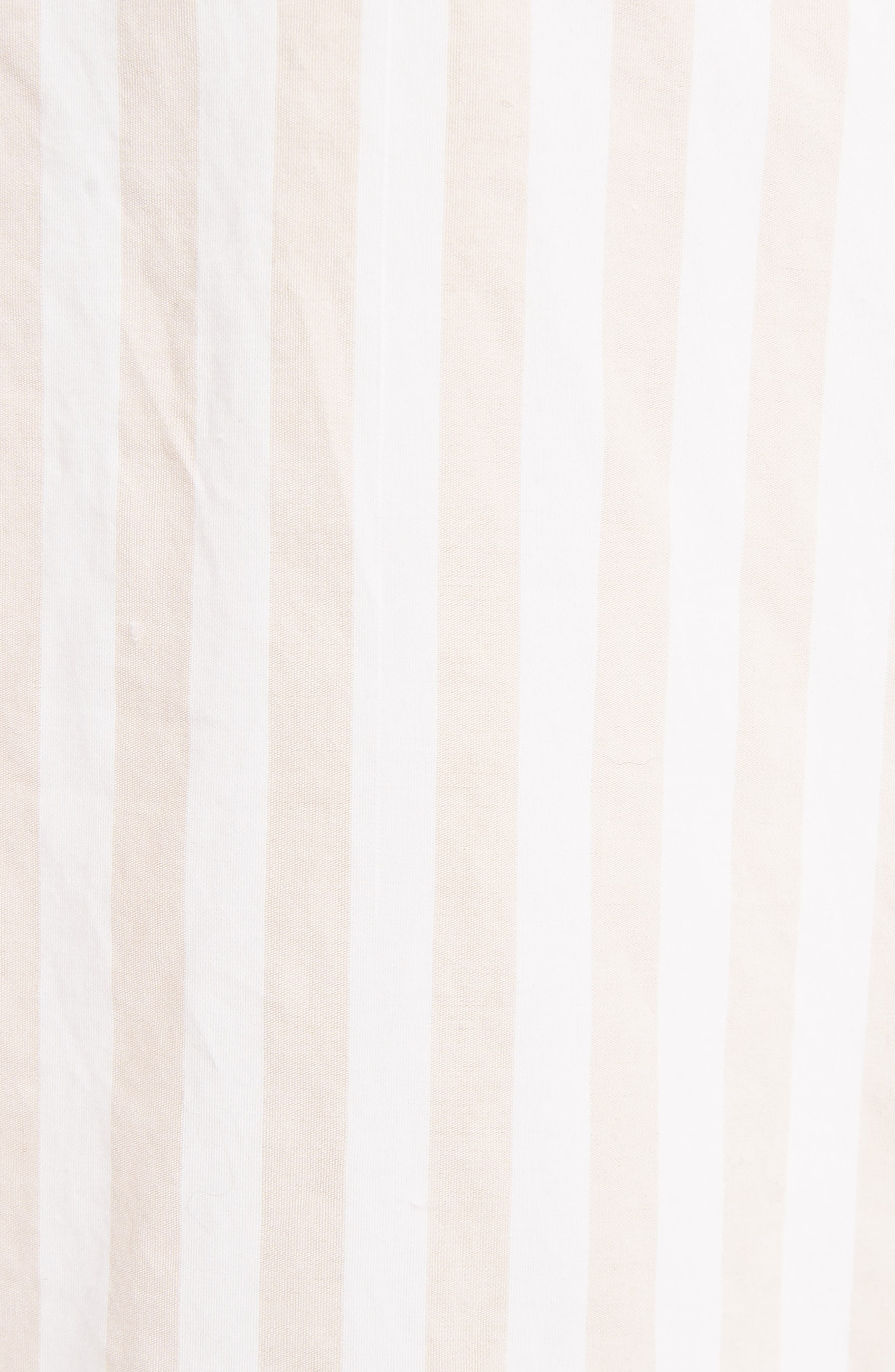 Stripe Cotton Oversize Shirt,                             Alternate thumbnail 5, color,